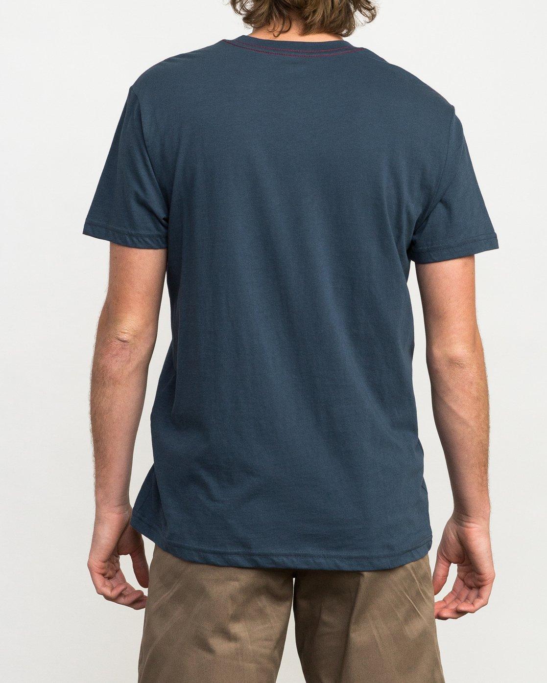 3 Day Stripe Pocket T-Shirt Blue M424QRDA RVCA