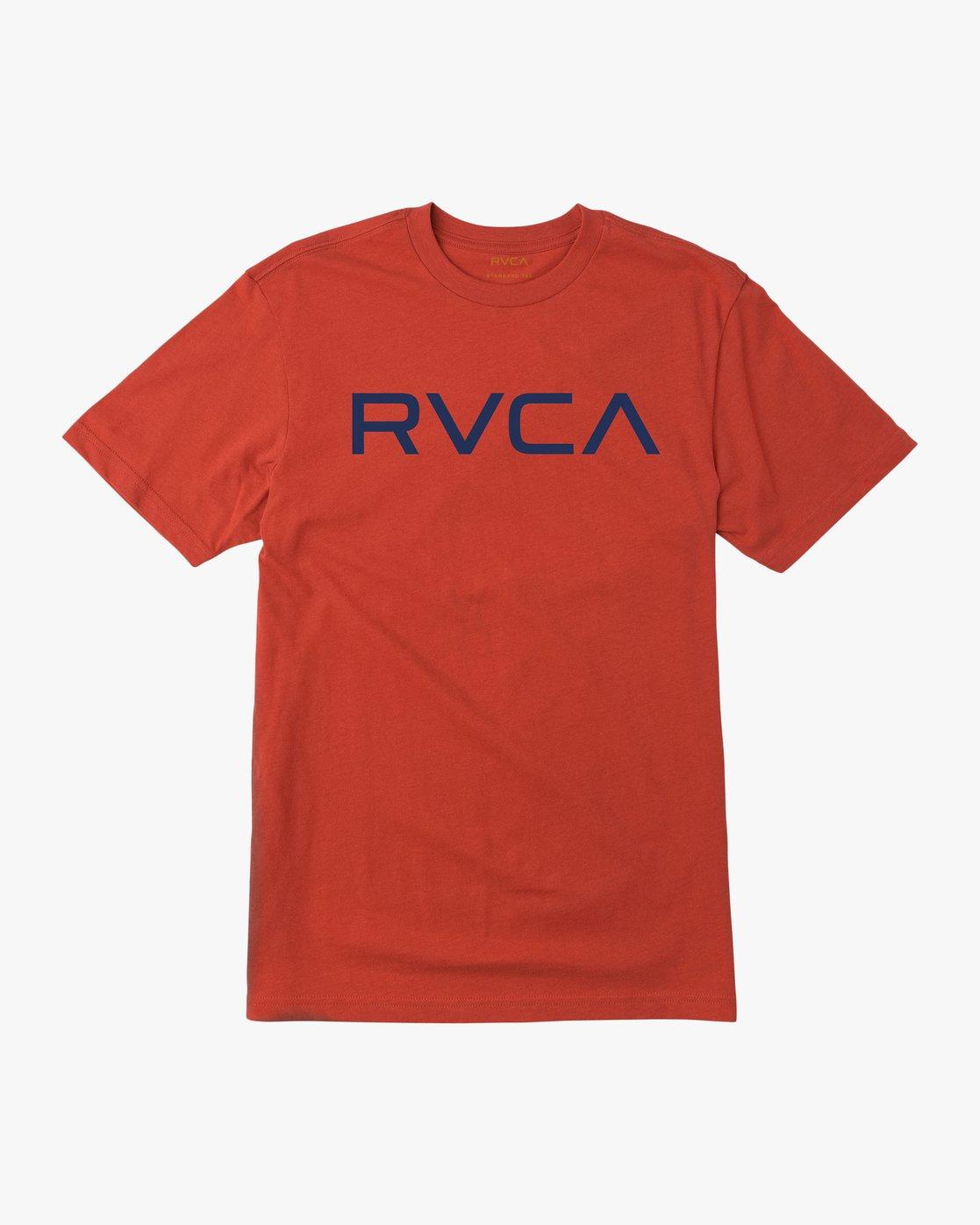 0 Big RVCA T-Shirt Red M426QRBI RVCA