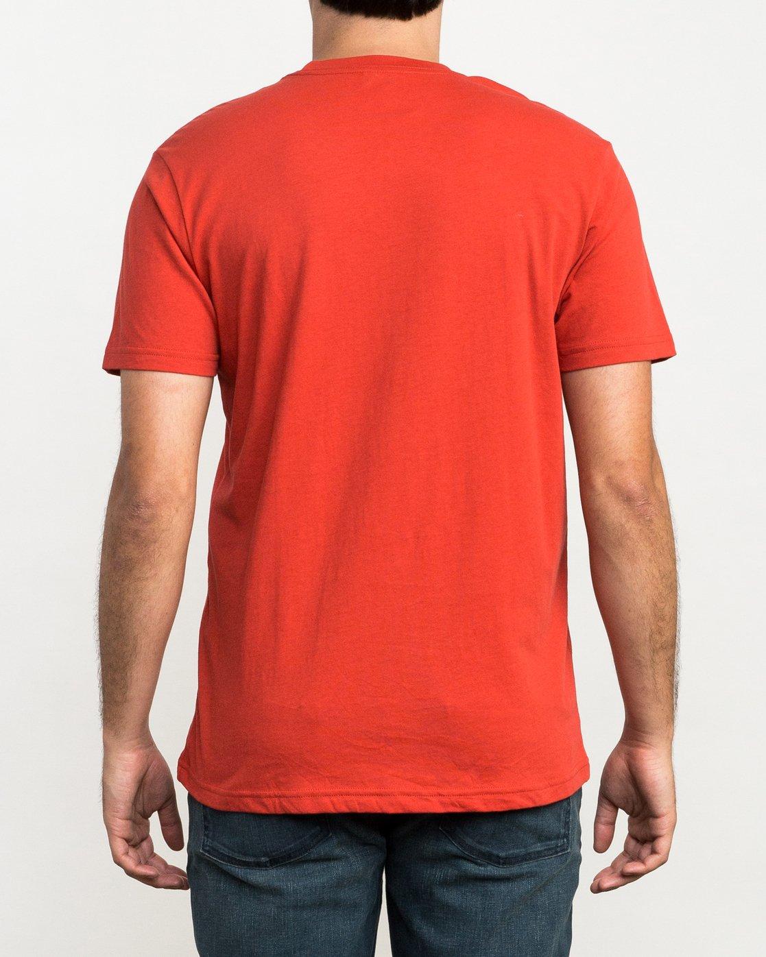 3 Big RVCA T-Shirt Red M426QRBI RVCA