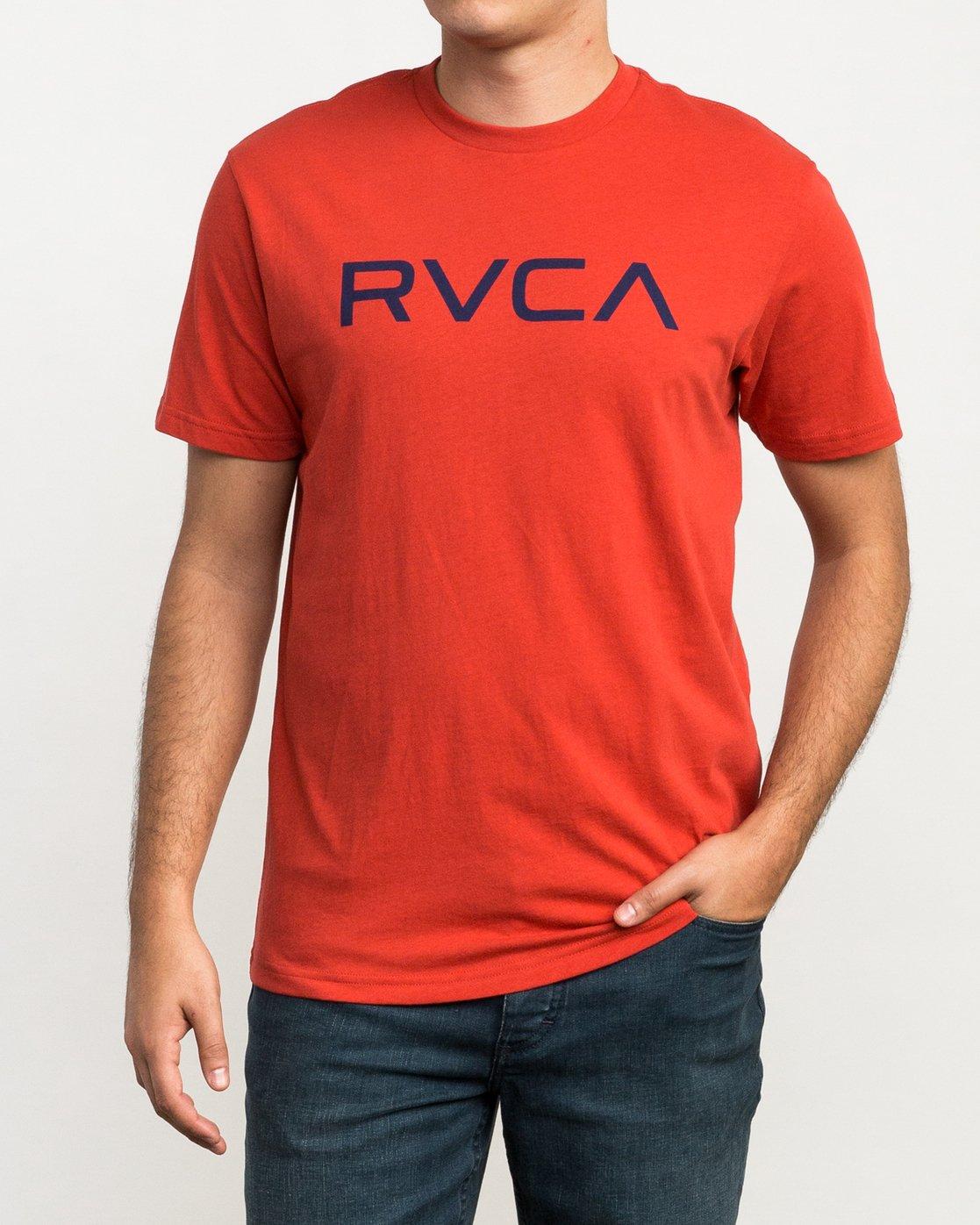 1 Big RVCA T-Shirt Red M426QRBI RVCA