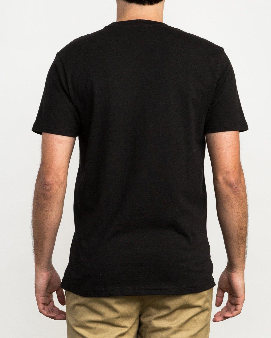 4 Copy Box T-Shirt Black M426QRCO RVCA