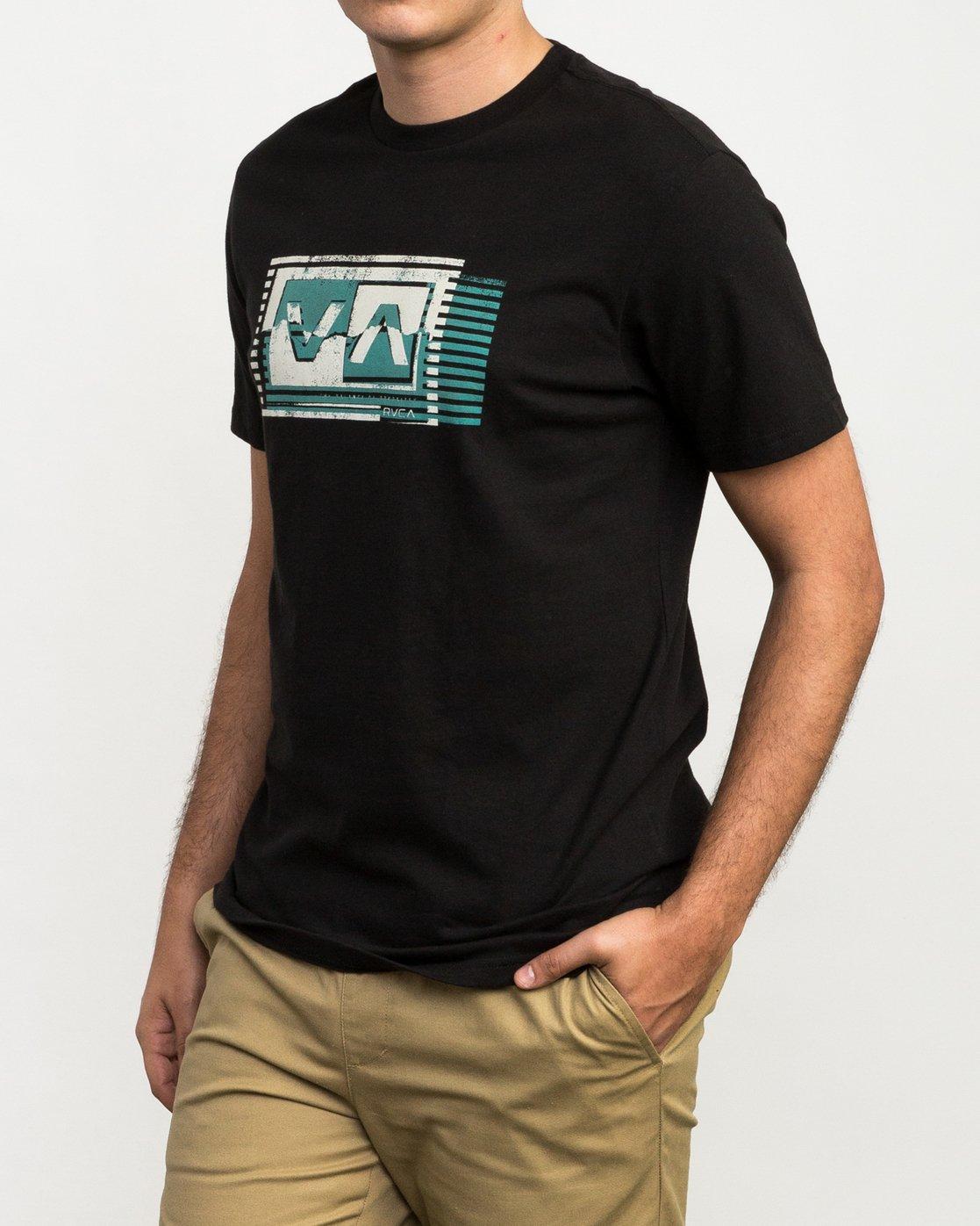 2 Copy Box T-Shirt Black M426QRCO RVCA