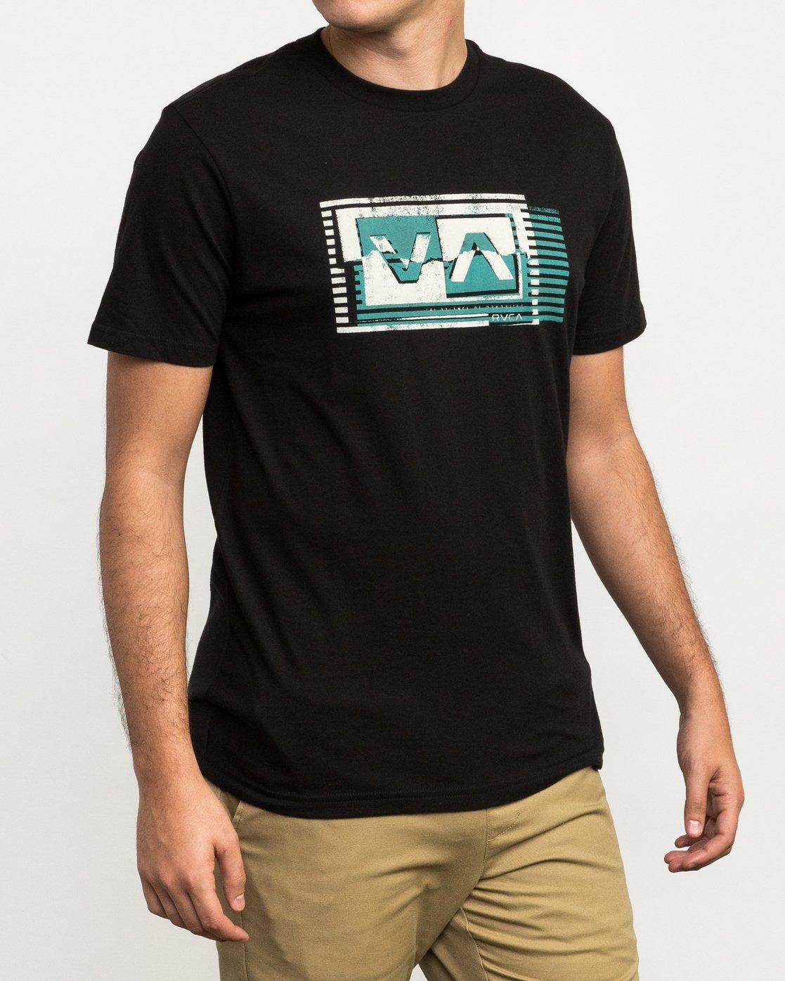 3 Copy Box T-Shirt Black M426QRCO RVCA