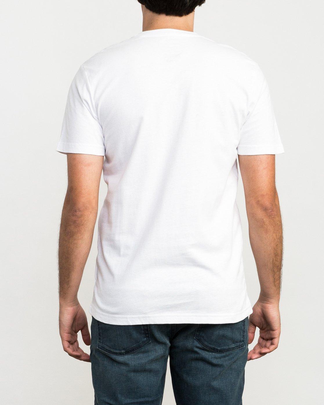 3 Global Hex T-Shirt White M426QRGL RVCA