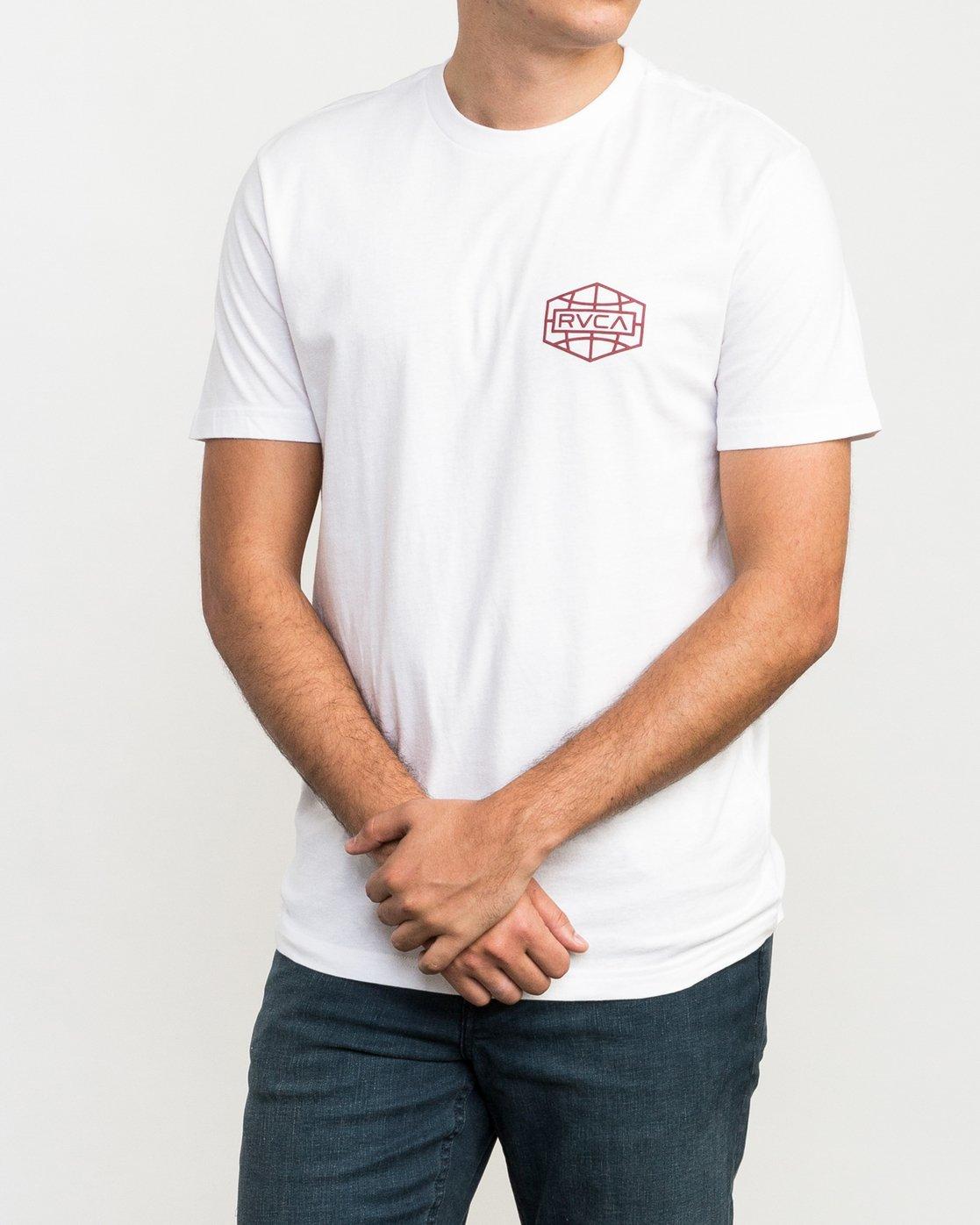 1 Global Hex T-Shirt White M426QRGL RVCA