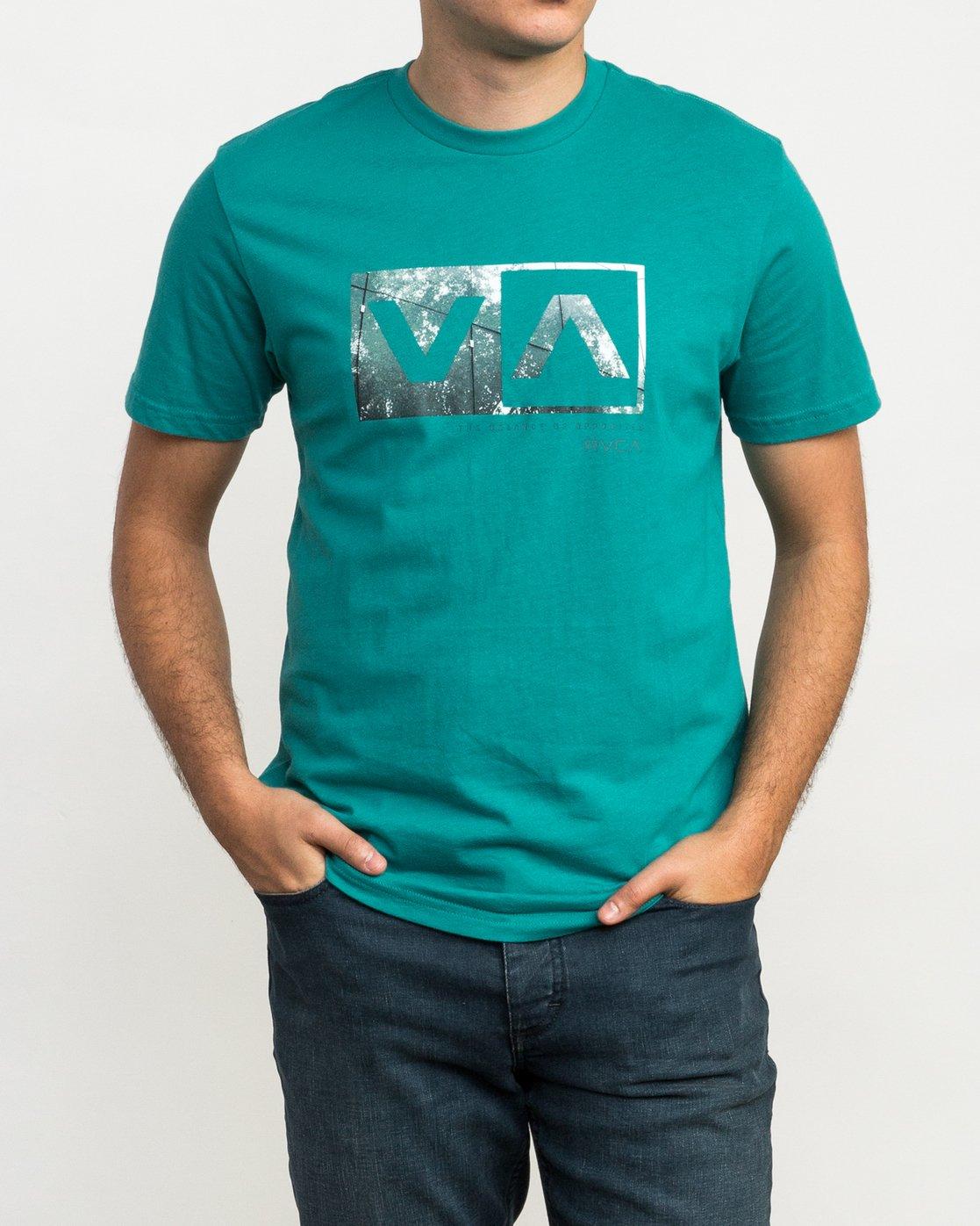 1 RVCA Reflection Box T-Shirt Green M426QRRE RVCA