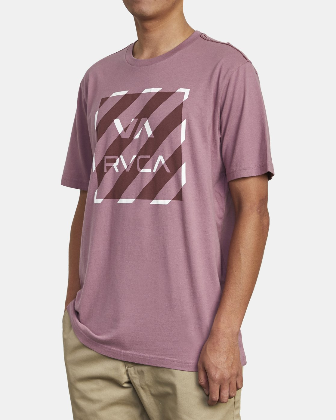 4 HAZARD BOX T-SHIRT Purple M4301RHA RVCA