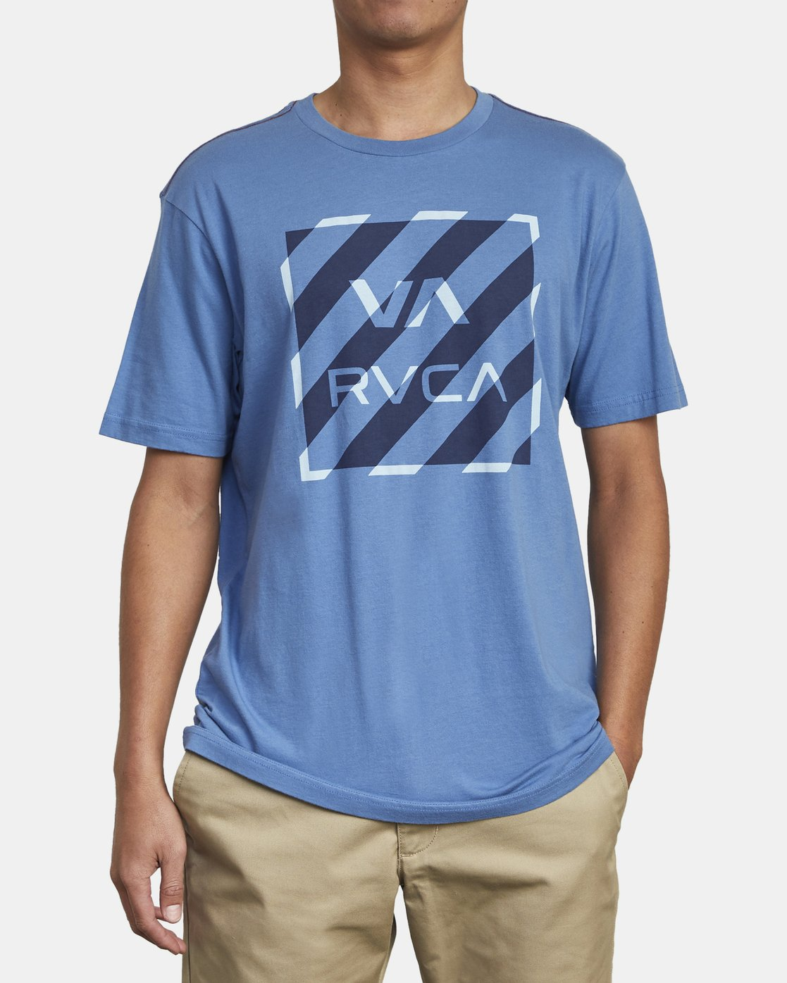2 HAZARD BOX T-SHIRT Blue M4301RHA RVCA