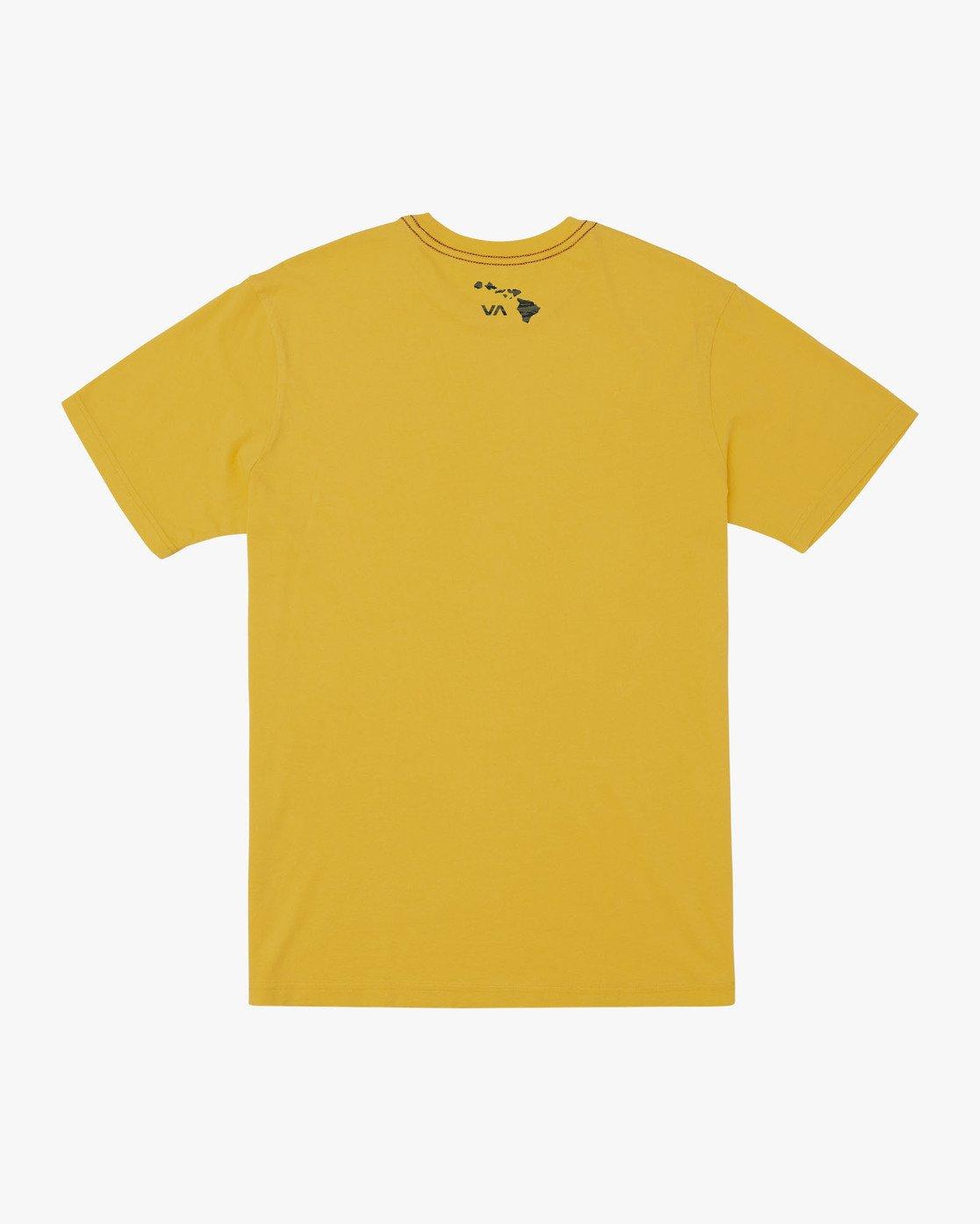 1 ISLAND HEX FILL - TIGER CAM T-SHIRT Yellow M4301RIH RVCA
