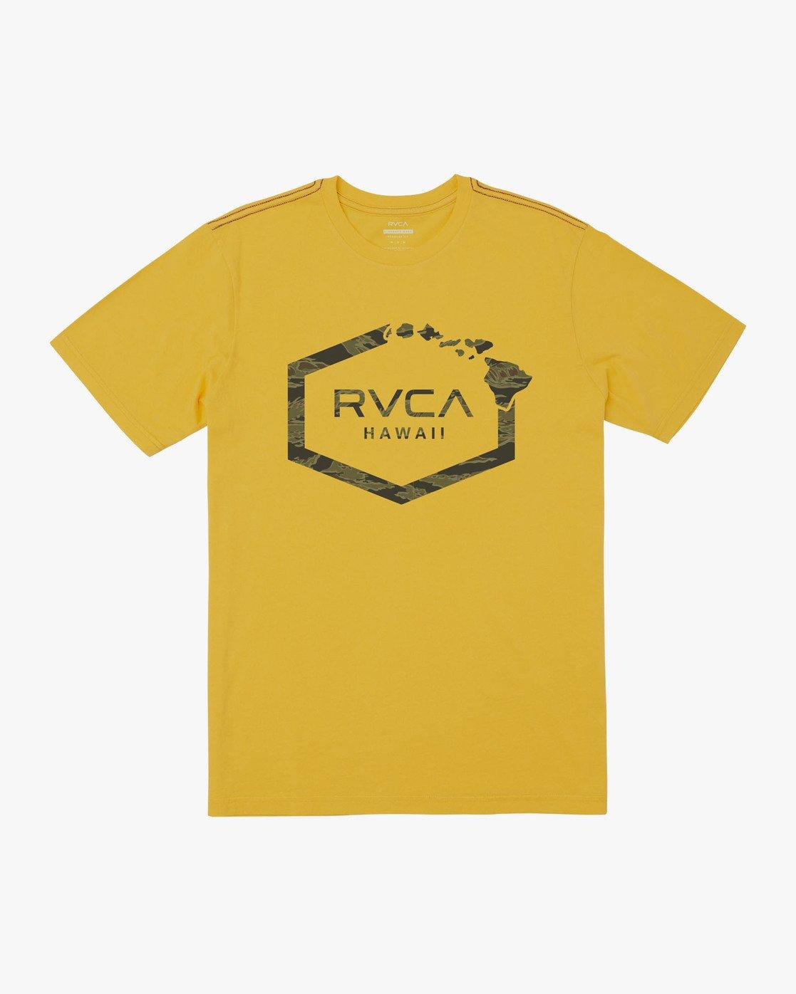 0 ISLAND HEX FILL - TIGER CAM T-SHIRT Yellow M4301RIH RVCA
