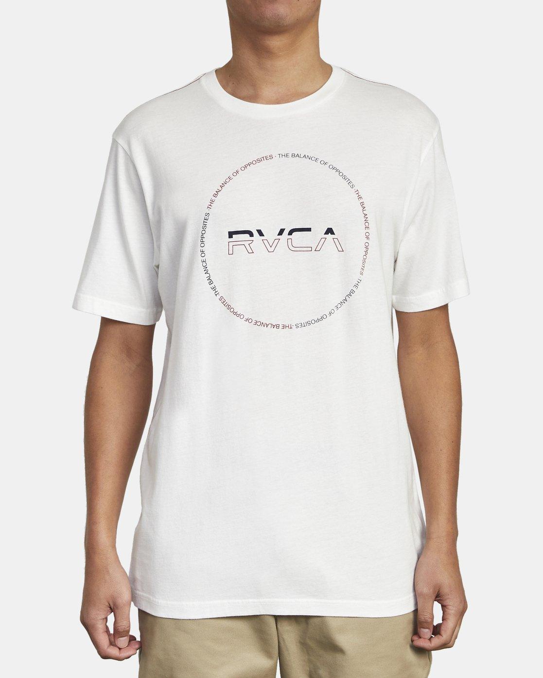 1 SPLITTER SEAL TEE White M4301RSP RVCA