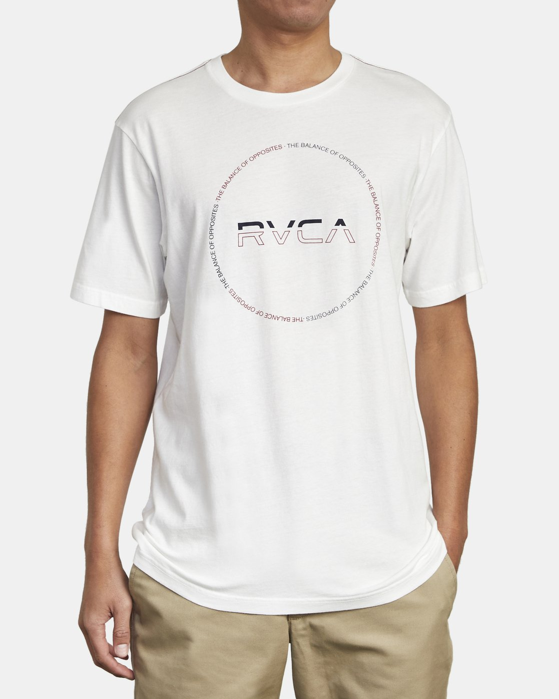 2 SPLITTER SEAL T-SHIRT White M4301RSP RVCA