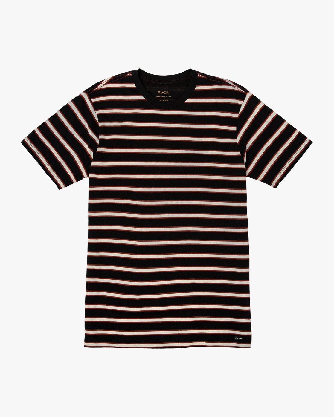 0 Brong Stripe T-Shirt Black M430SRBR RVCA