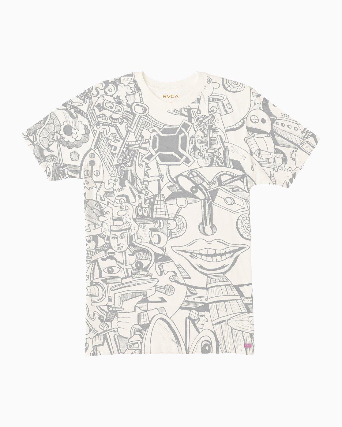 0 Grillo World T-Shirt White M430SRGR RVCA