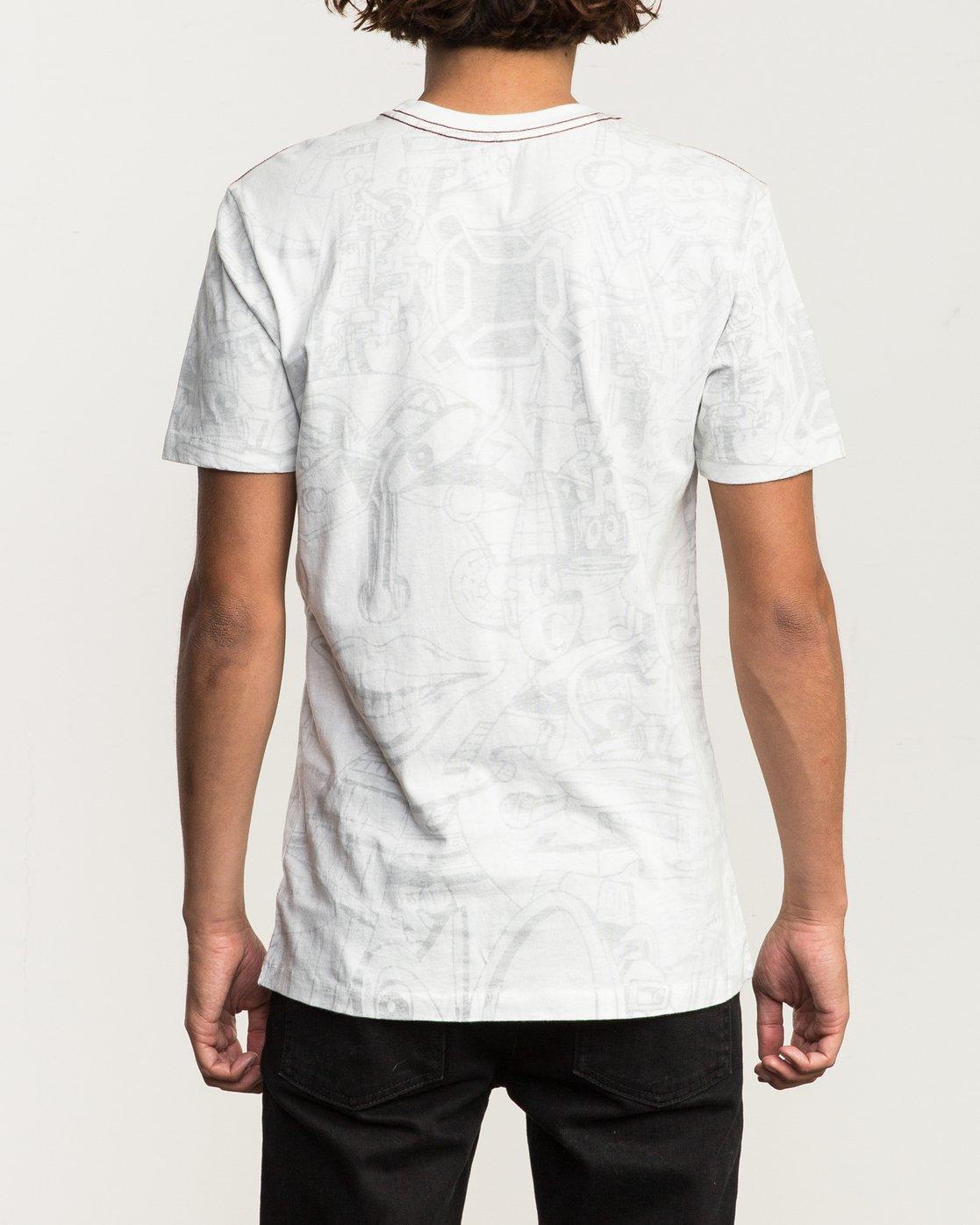 3 Grillo World T-Shirt White M430SRGR RVCA