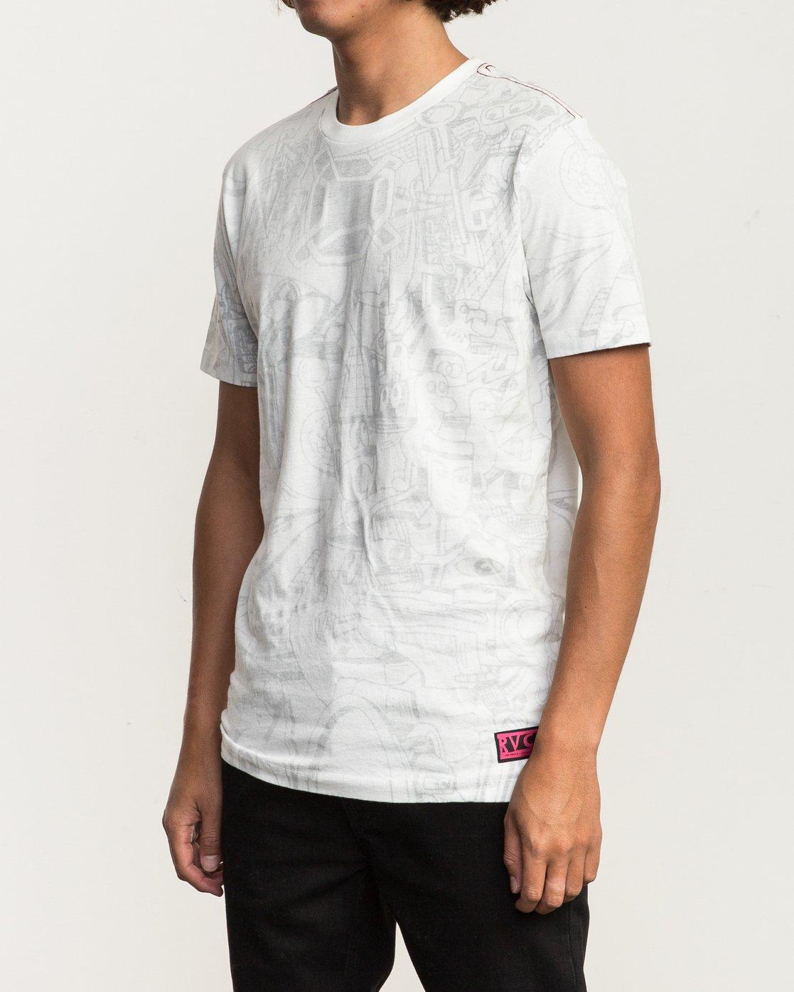 2 Grillo World T-Shirt  M430SRGR RVCA