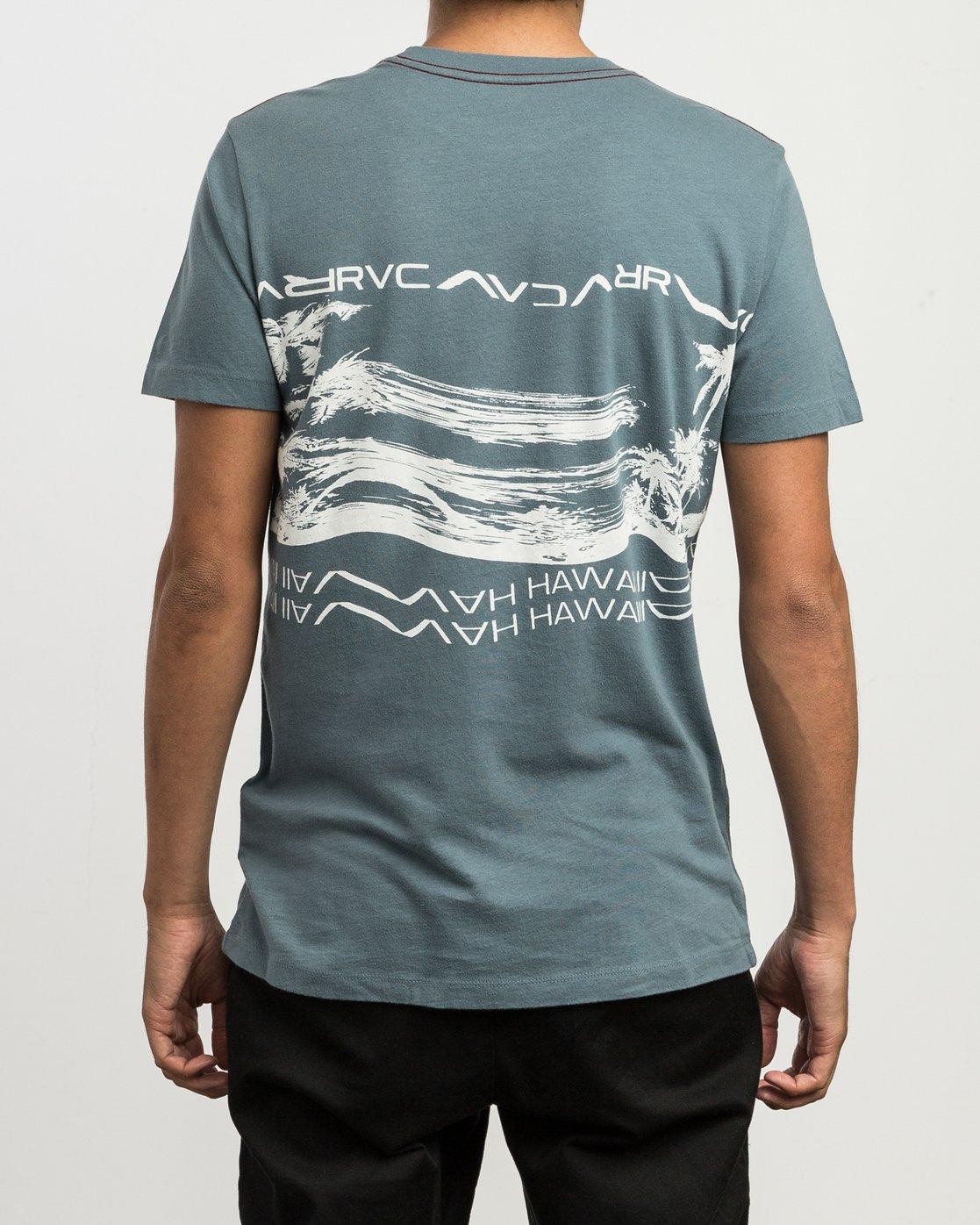 2 Hawaii Warped T-Shirt Blue M430SRHS RVCA