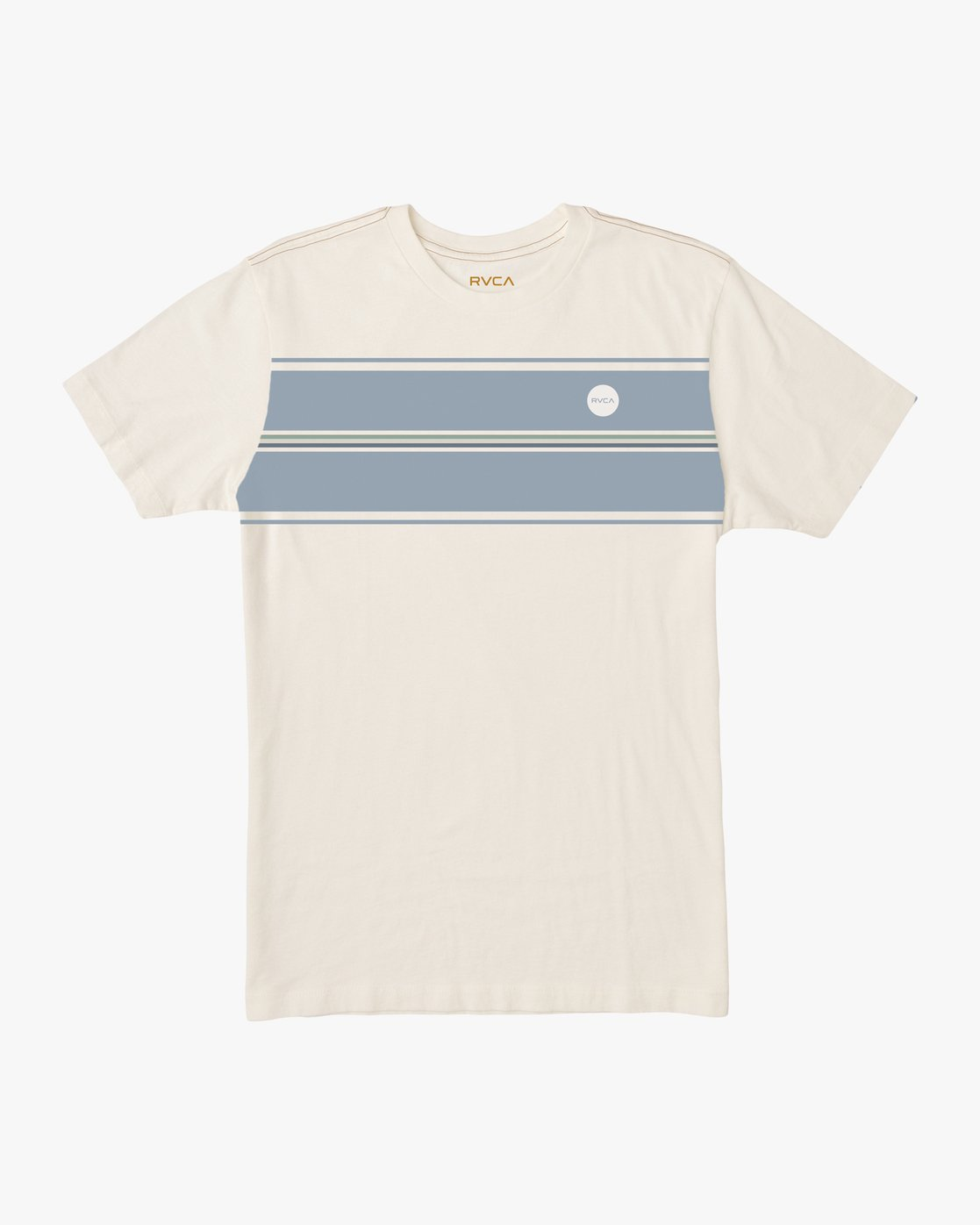 0 Motors Stripe T-Shirt White M430SRMO RVCA