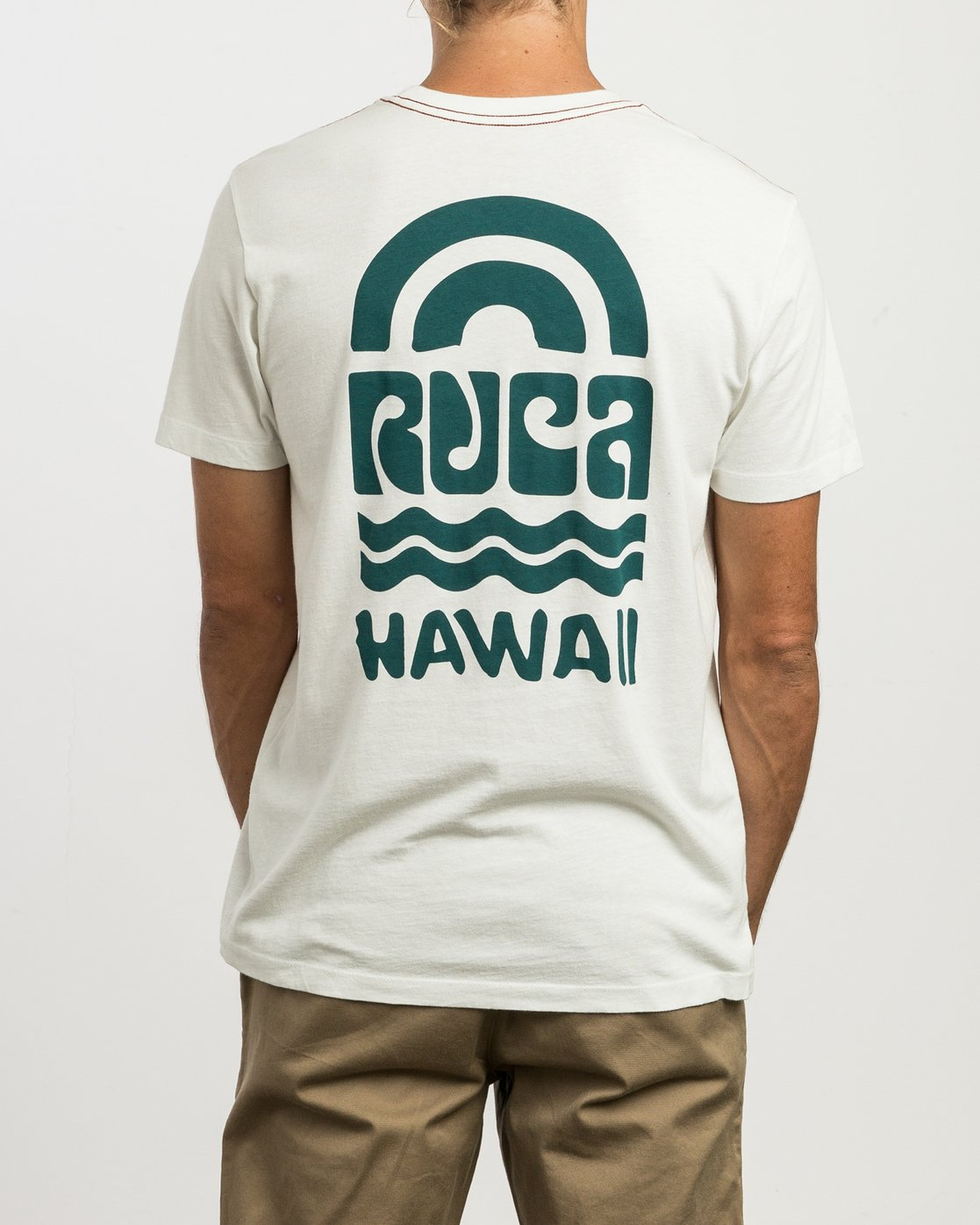 4 Rivey Hawaii T-Shirt  M430SRRS RVCA