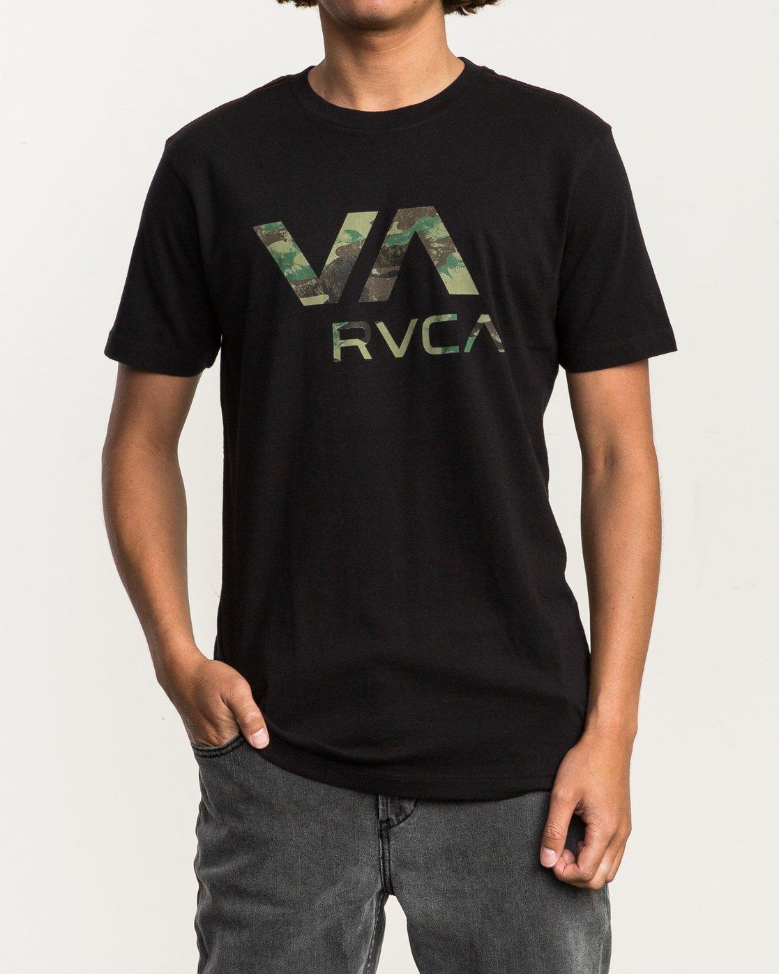 1 VA RVCA Fill T-Shirt Black M430SRVA RVCA