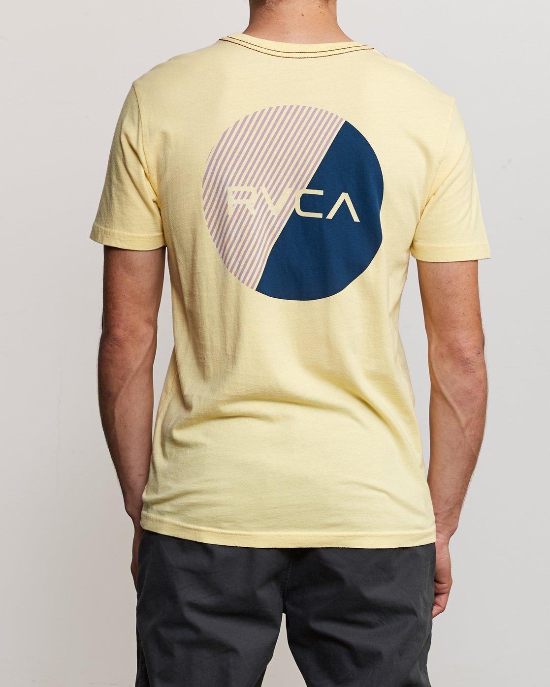 4 Blind Motors T-Shirt Yellow M430TRBL RVCA