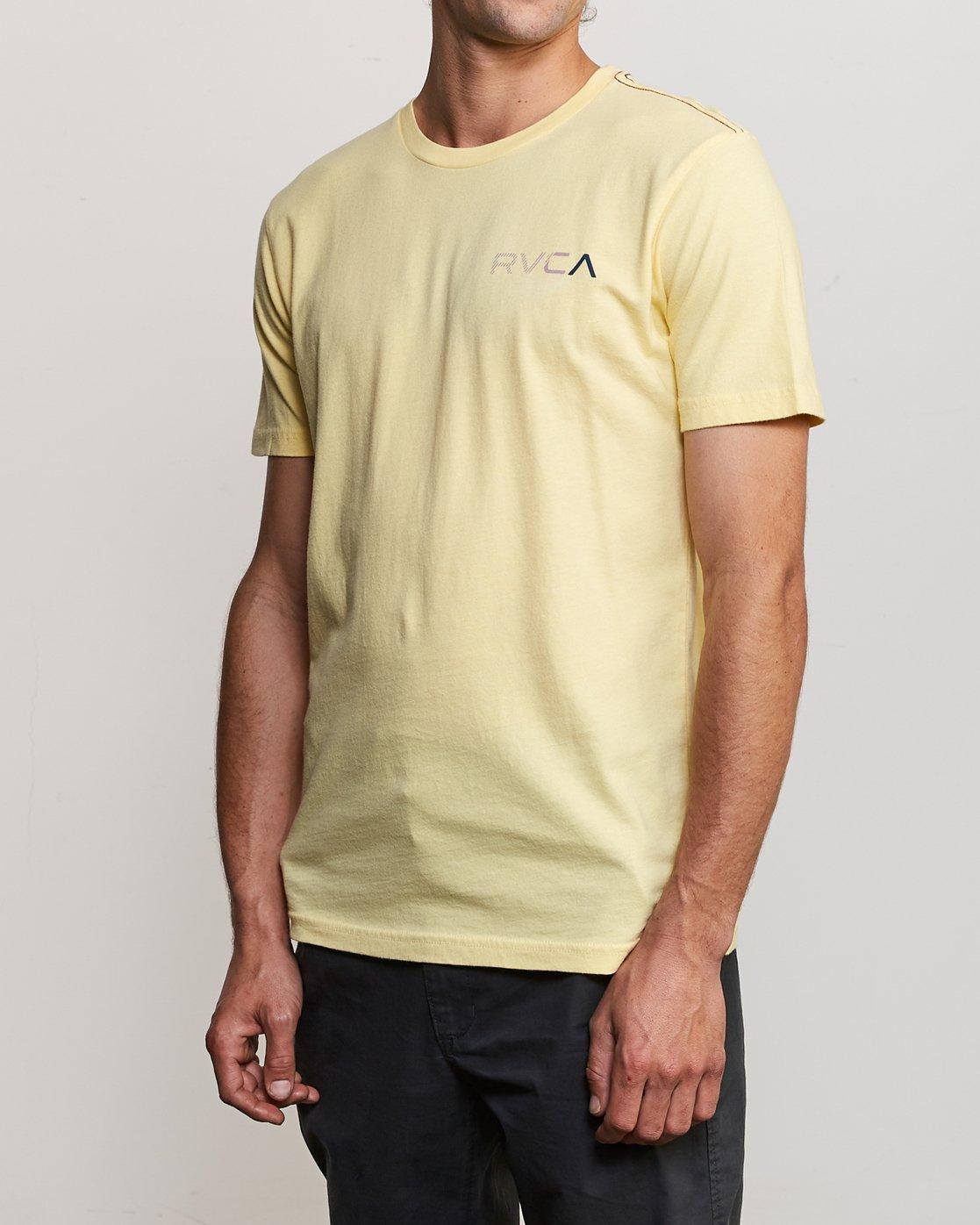 3 Blind Motors T-Shirt Yellow M430TRBL RVCA