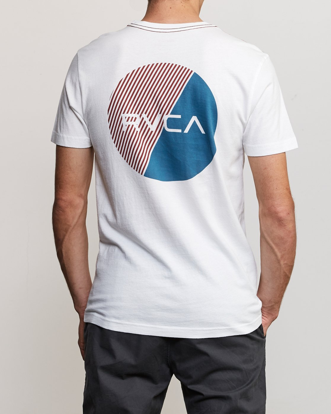 4 Blind Motors T-Shirt White M430TRBL RVCA