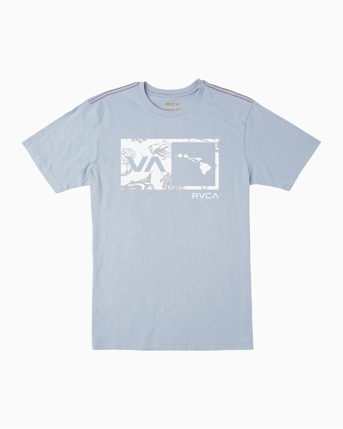 0 Islands Balance Box Fill T-Shirt Blue M430TRBS RVCA