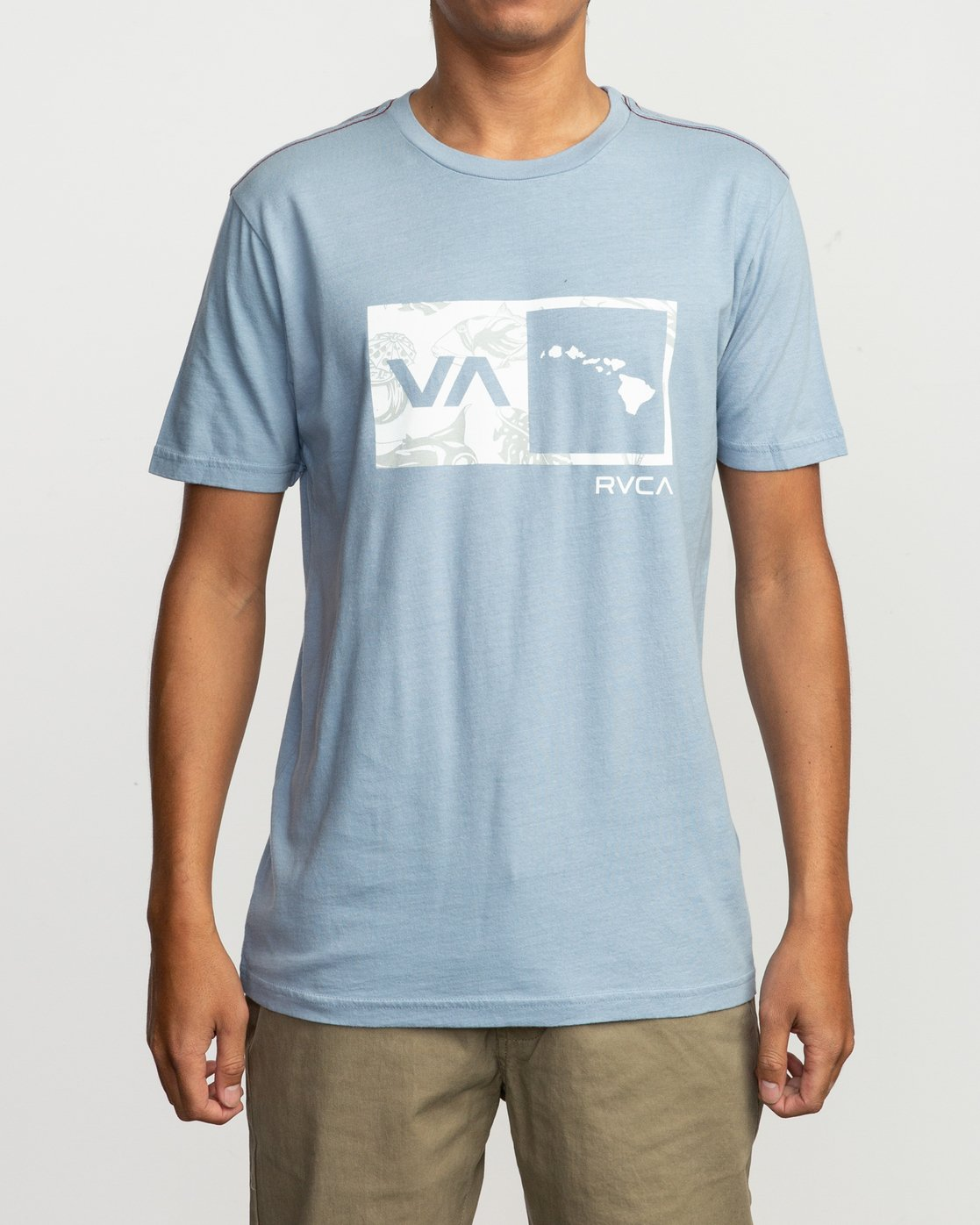 1 Islands Balance Box Fill T-Shirt Blue M430TRBS RVCA