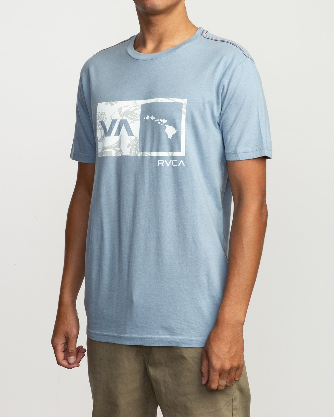 2 Islands Balance Box Fill T-Shirt Blue M430TRBS RVCA