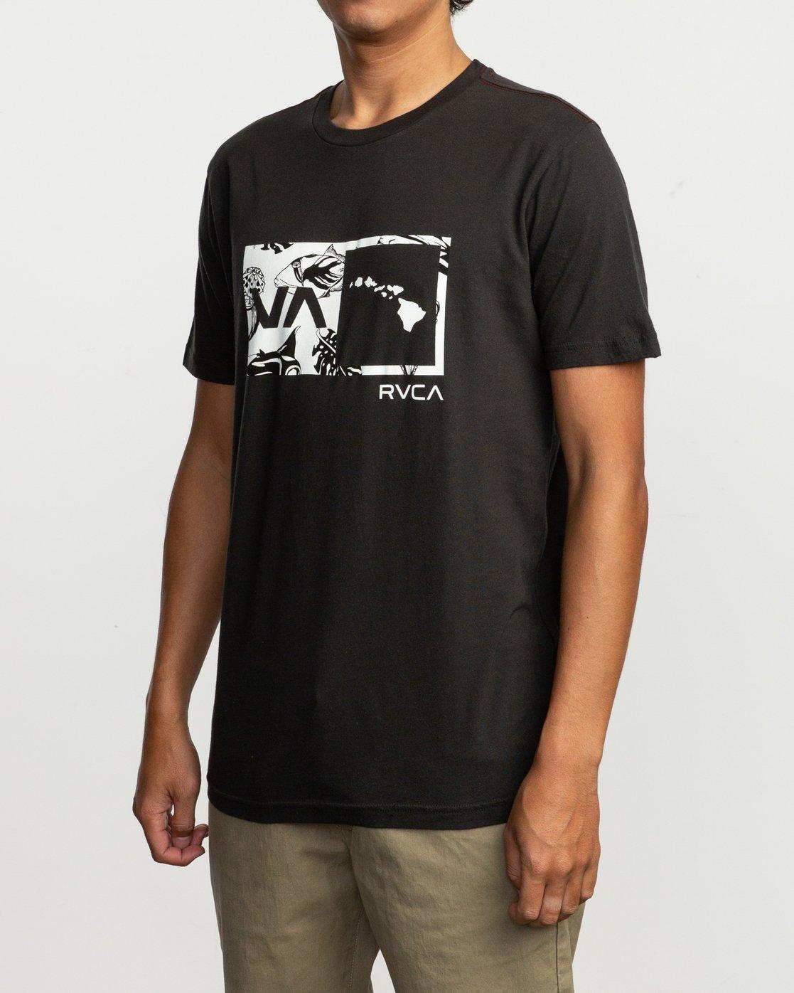 2 Islands Balance Box Fill T-Shirt Black M430TRBS RVCA