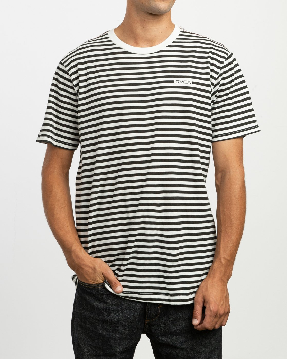 1 House Stripes T-Shirt  M430TRHO RVCA
