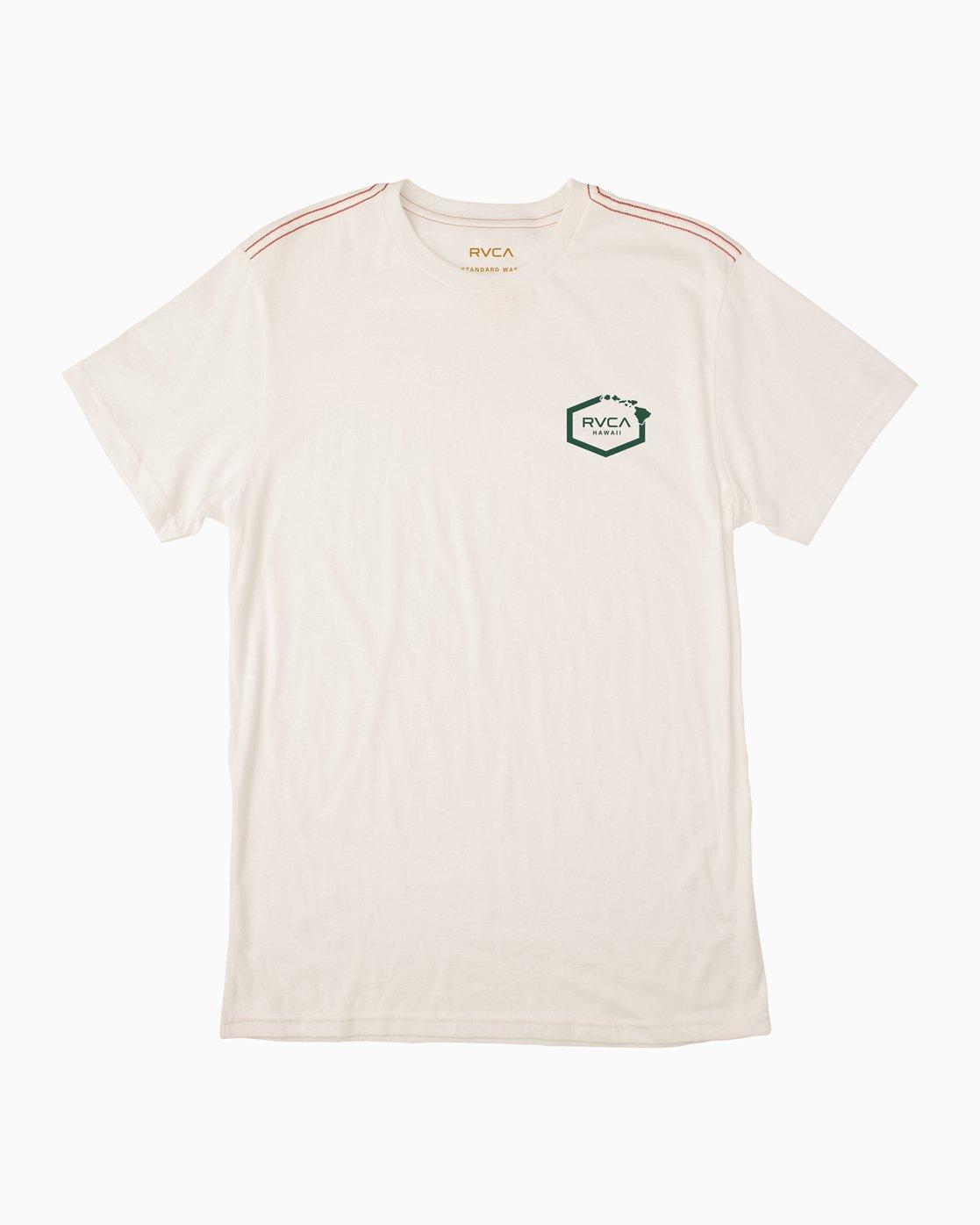 1 Islands Hex Hawaii T-Shirt White M430TRIS RVCA