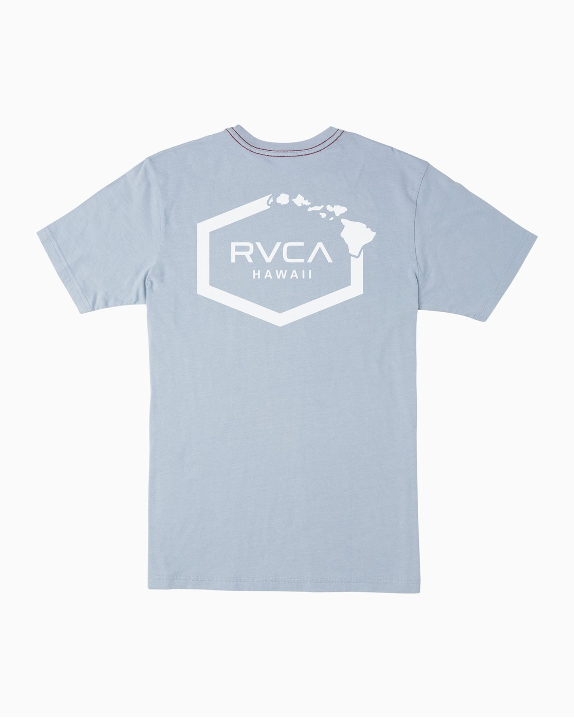 0 Islands Hex Hawaii T-Shirt Blue M430TRIS RVCA