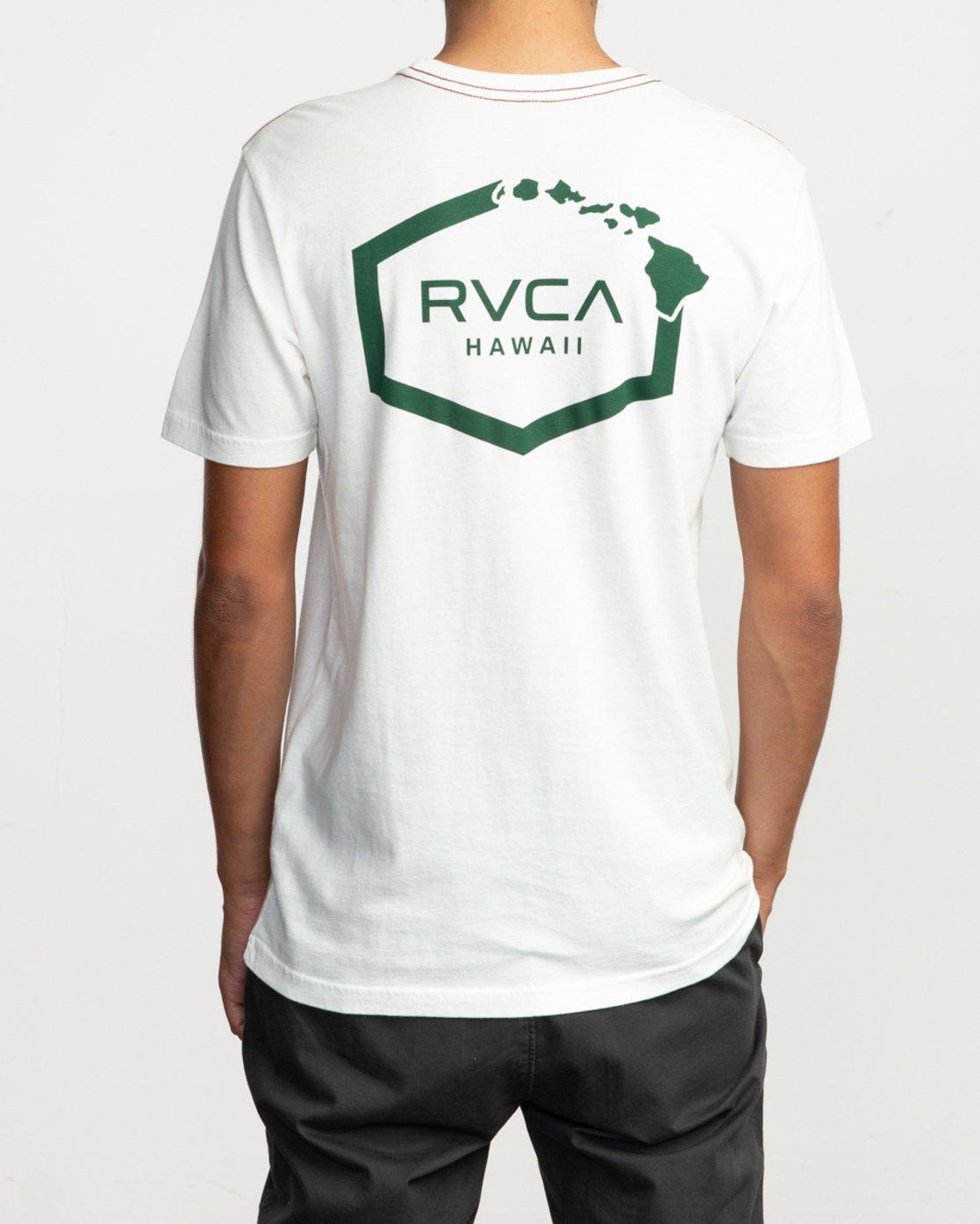 6 Islands Hex Hawaii T-Shirt White M430TRIS RVCA
