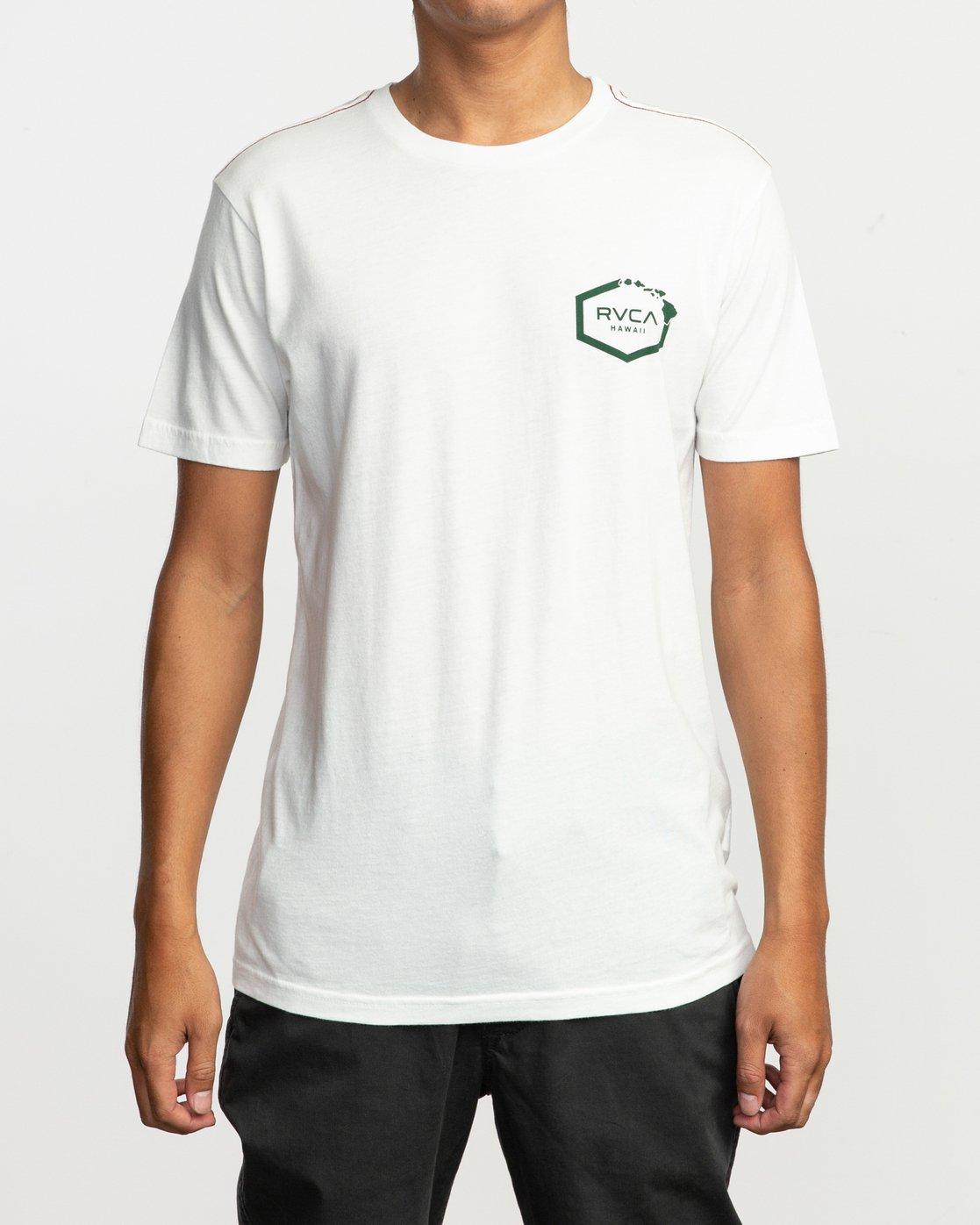 3 Islands Hex Hawaii T-Shirt White M430TRIS RVCA