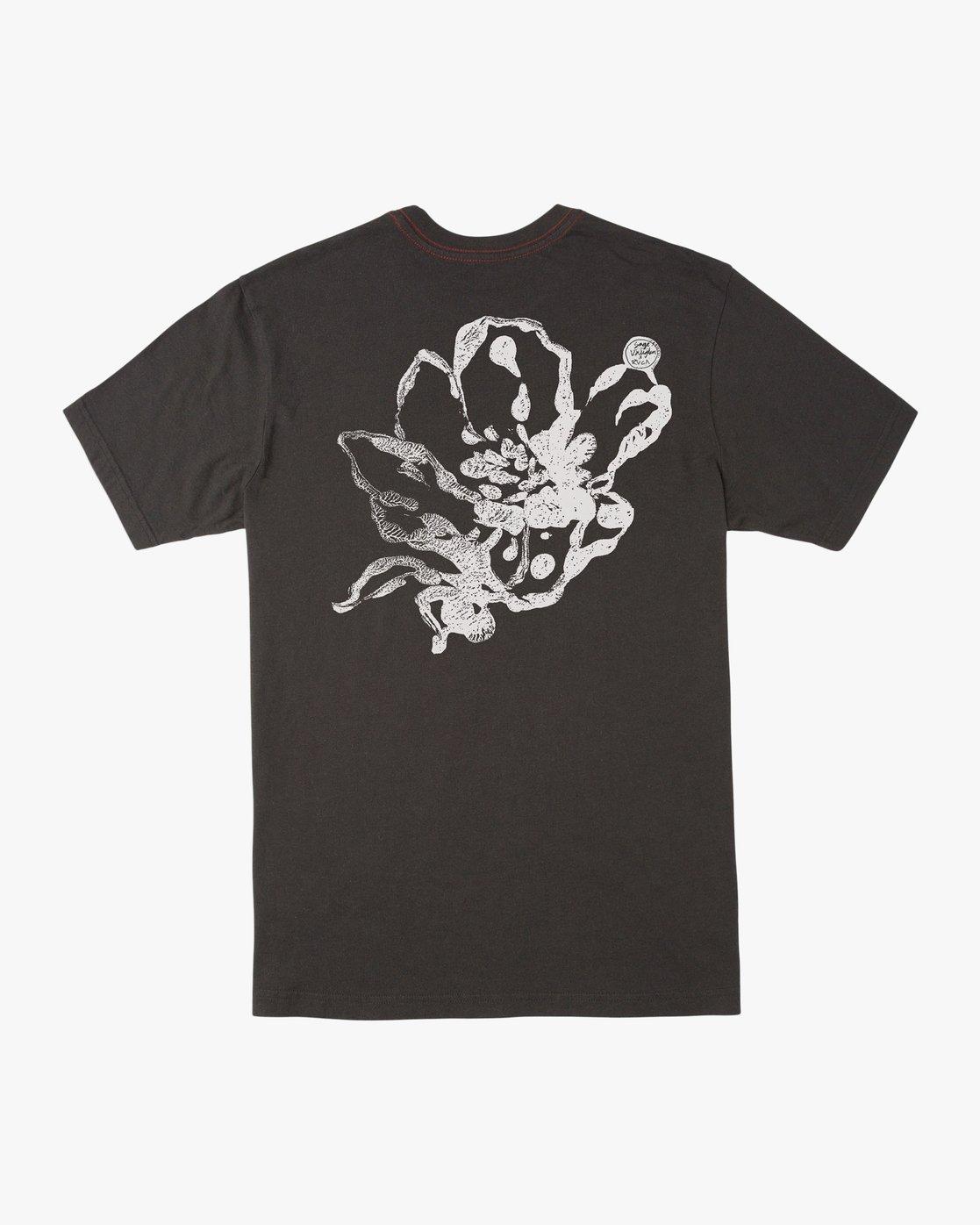 0 Sage Vaughn Mono Flower T-Shirt Black M430TRMO RVCA