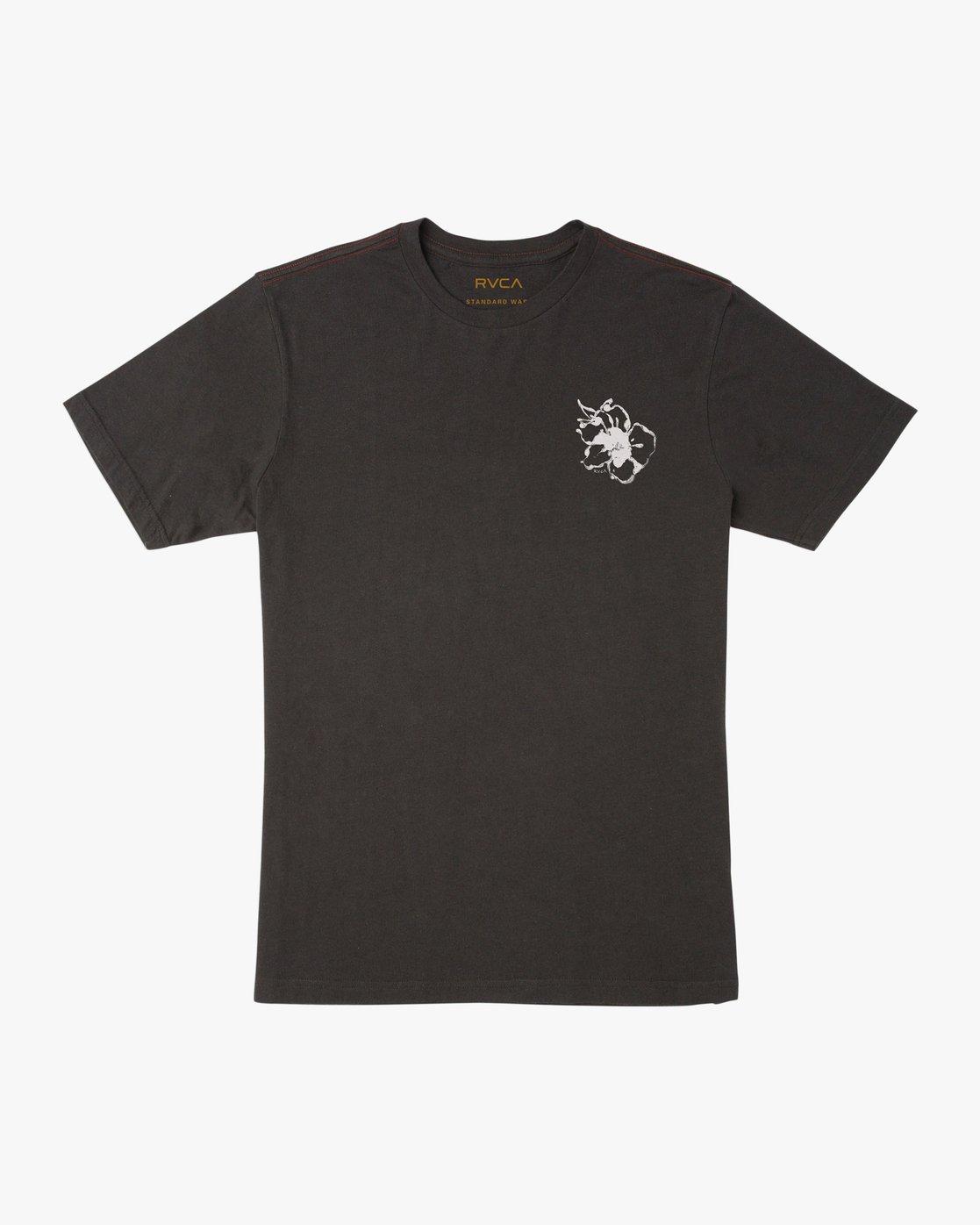 1 Sage Vaughn Mono Flower T-Shirt Black M430TRMO RVCA