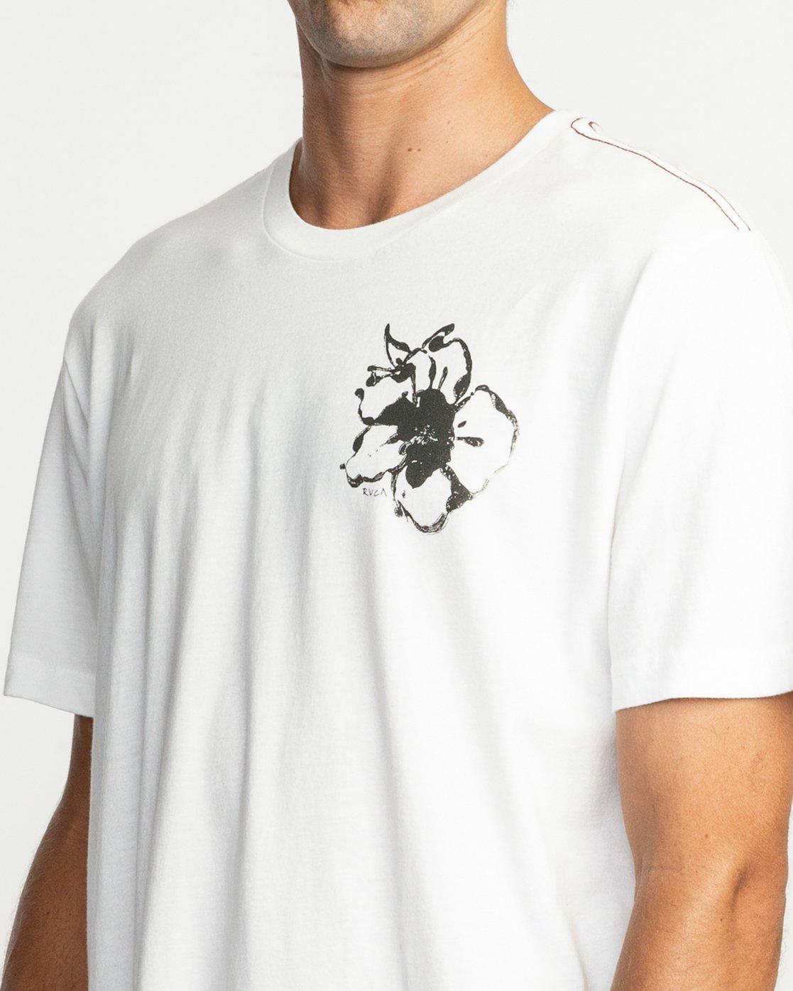 6 Sage Vaughn Mono Flower T-Shirt  M430TRMO RVCA