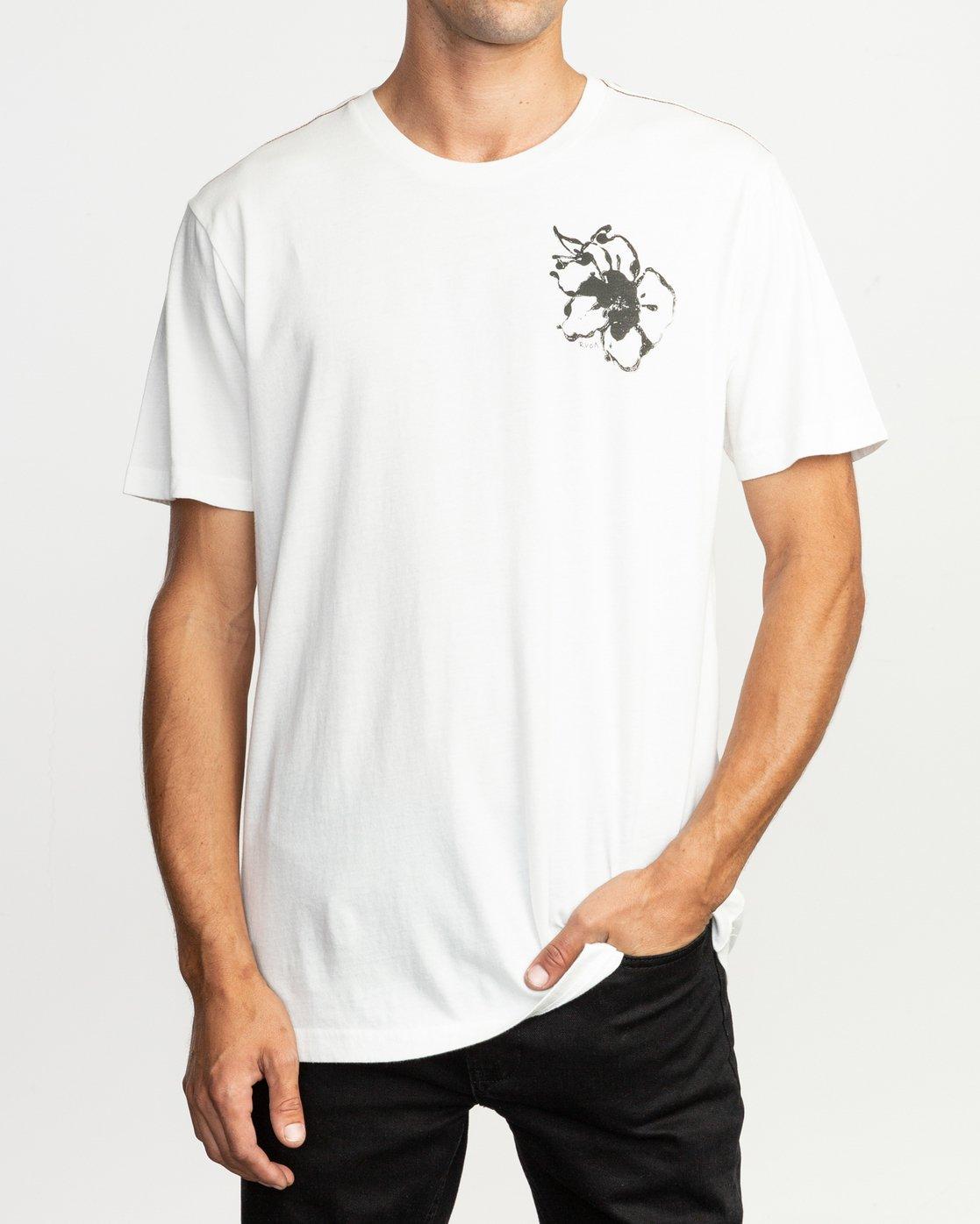 3 Sage Vaughn Mono Flower T-Shirt  M430TRMO RVCA