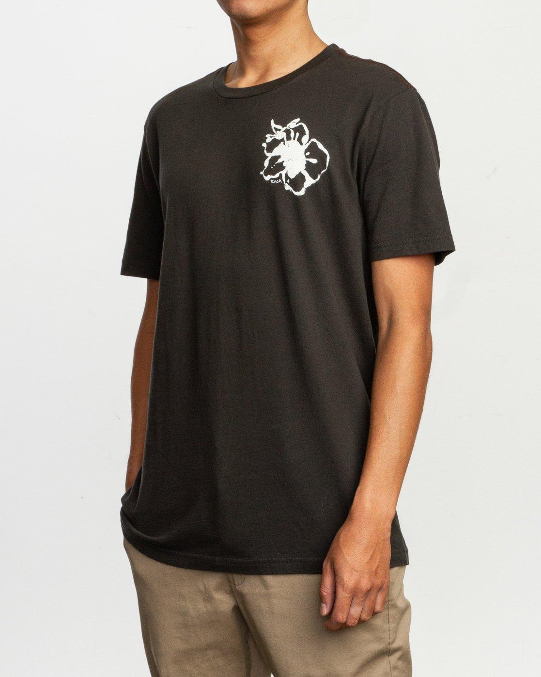 3 Sage Vaughn Mono Flower T-Shirt Black M430TRMO RVCA