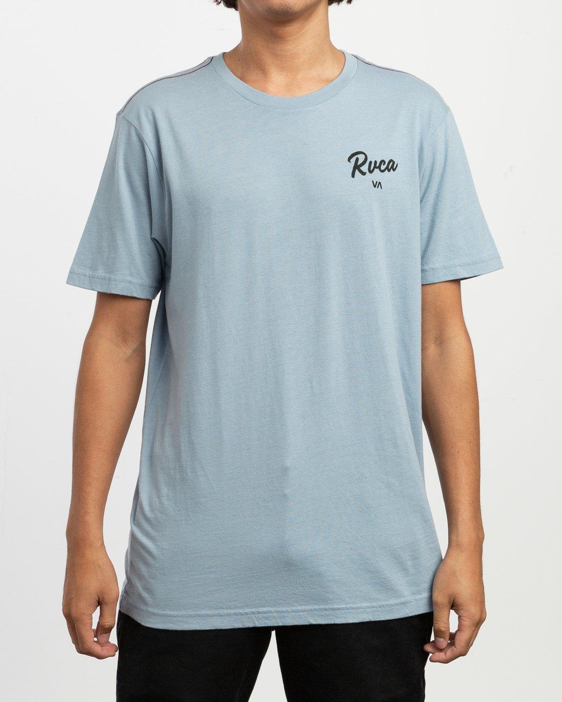 2 Postmark T-Shirt Blue M430TRPO RVCA