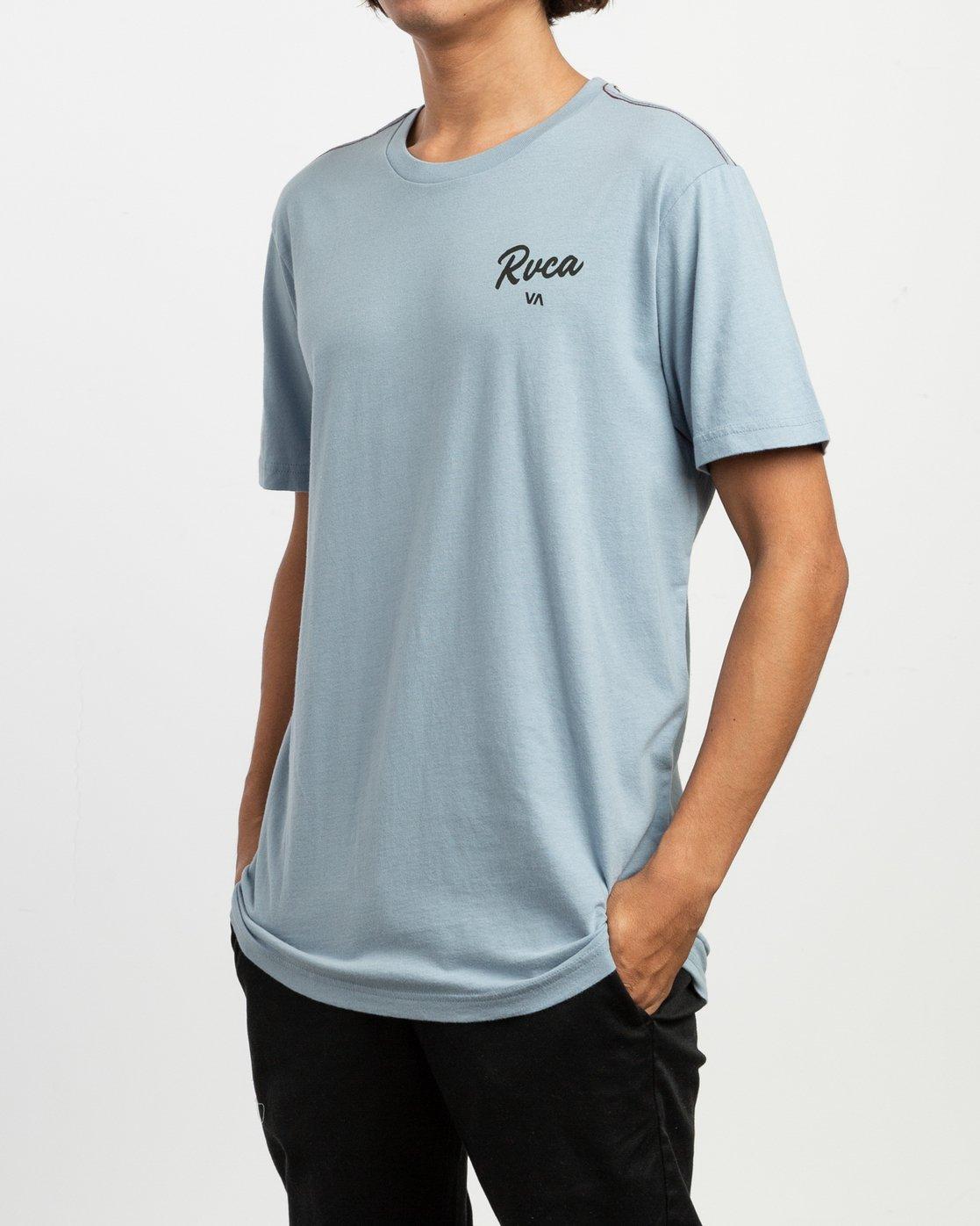 3 Postmark T-Shirt Blue M430TRPO RVCA