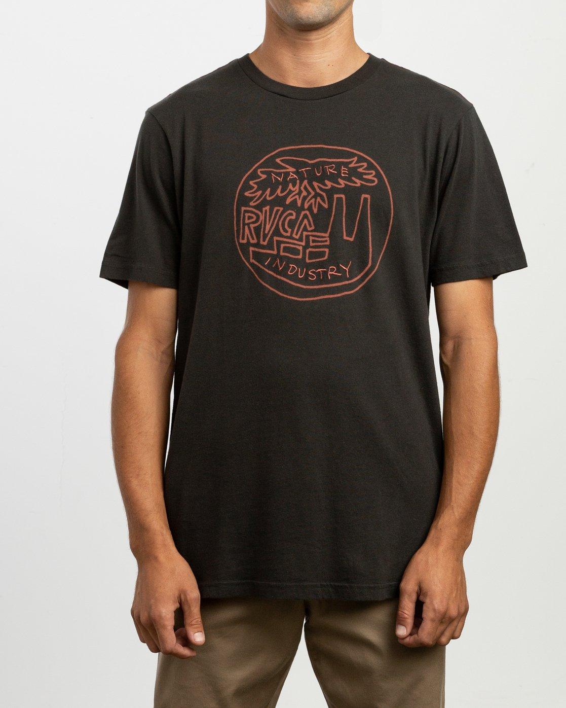 1 Rust Belt Embroidered T-Shirt Black M430TRRU RVCA