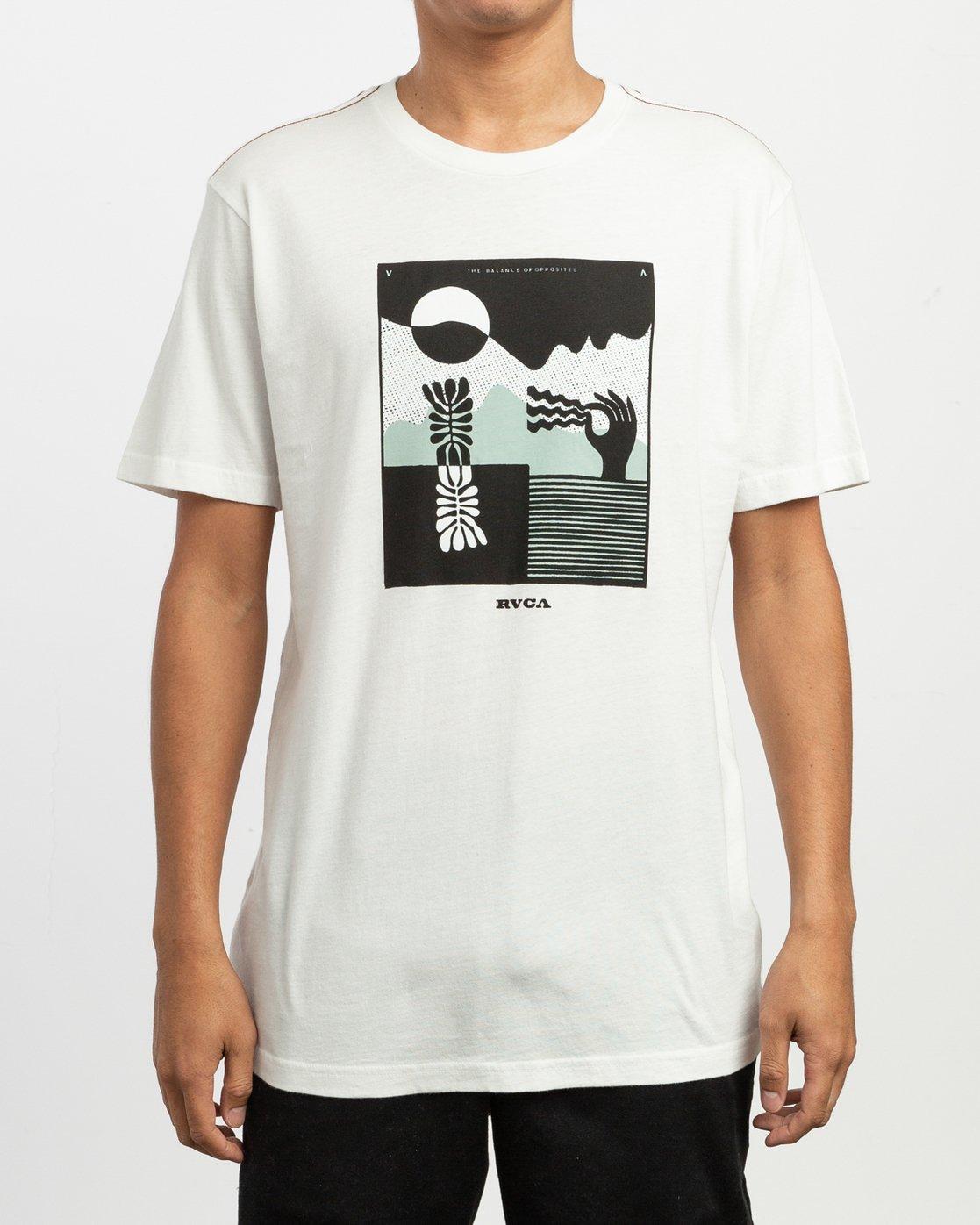 2 Zurich T-Shirt White M430TRZU RVCA