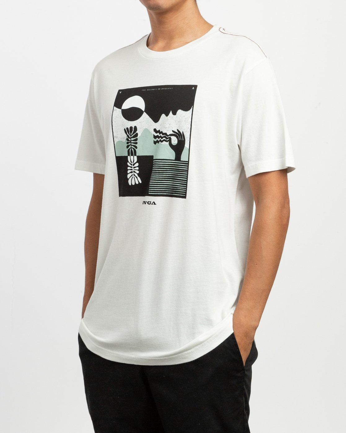 3 Zurich T-Shirt White M430TRZU RVCA