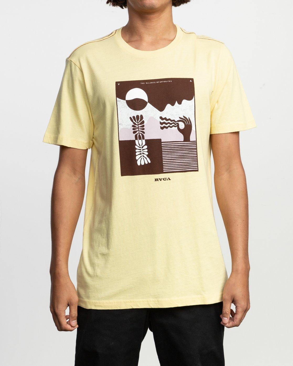 2 Zurich T-Shirt Yellow M430TRZU RVCA