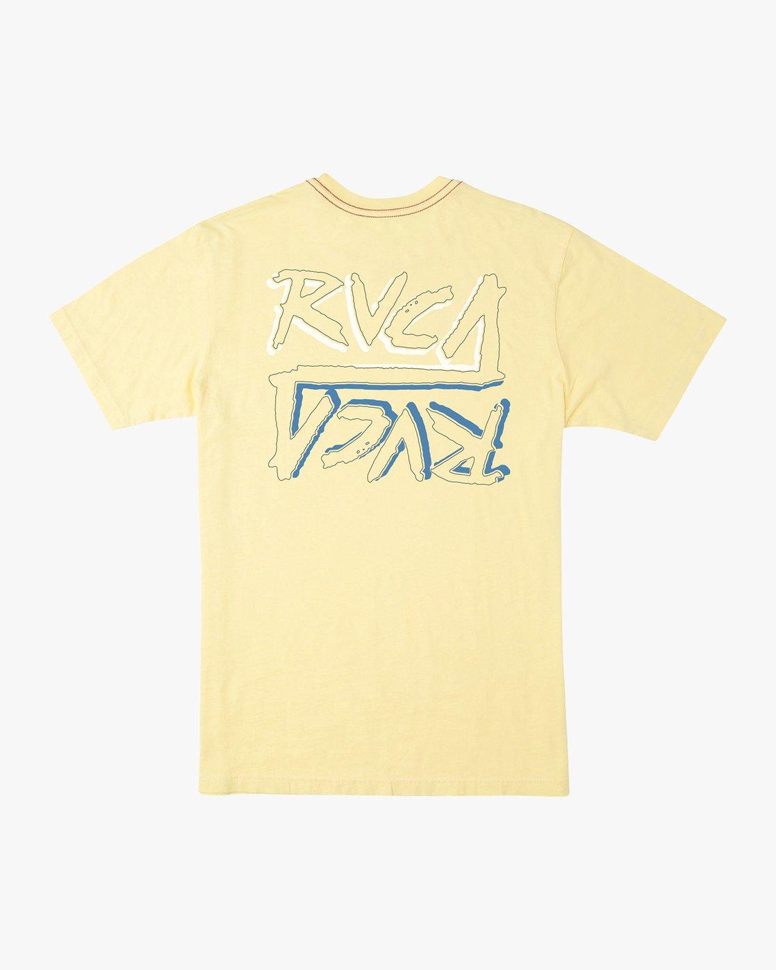 0 Offset T-Shirt Yellow M430UROF RVCA