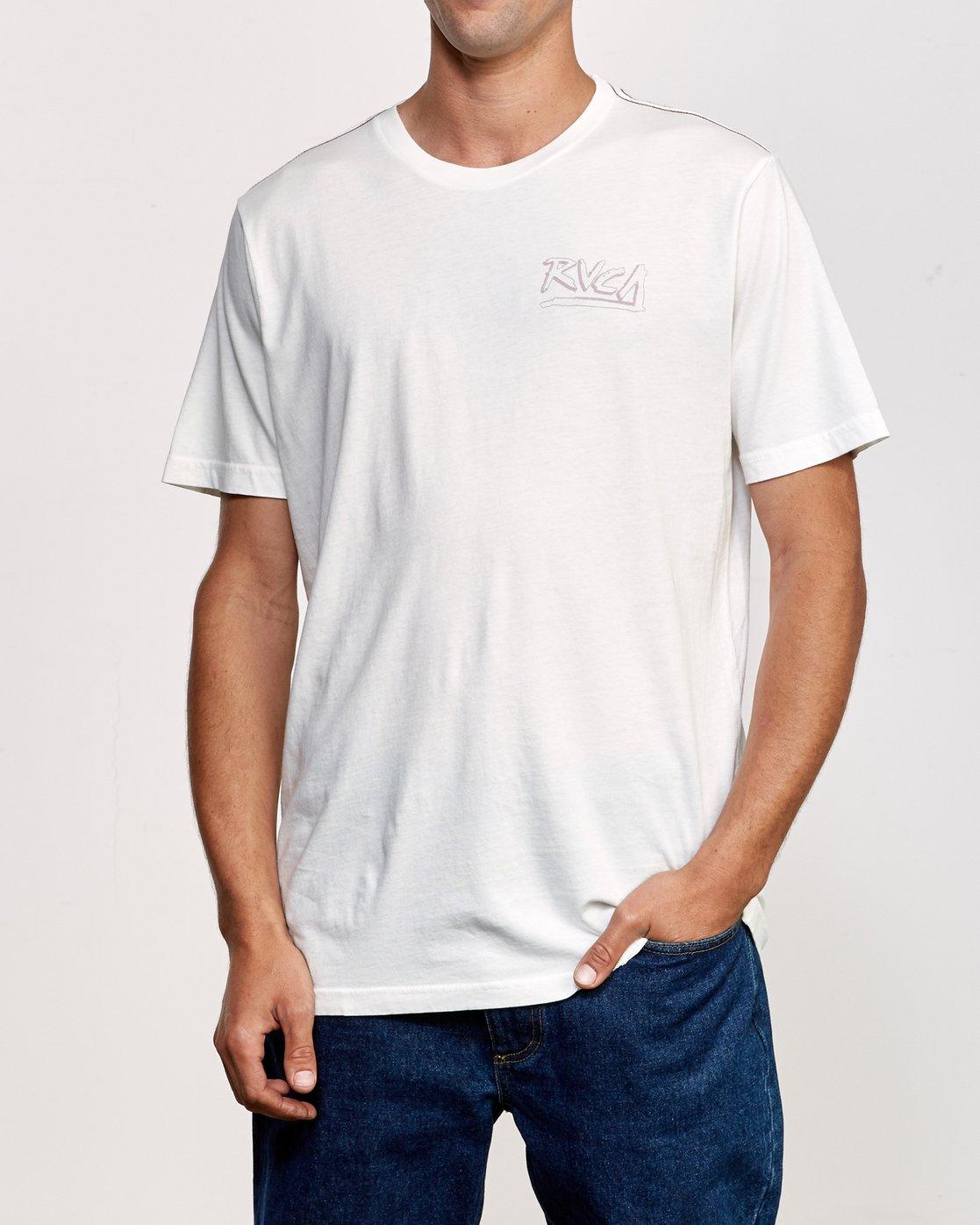 2 Offset T-Shirt White M430UROF RVCA