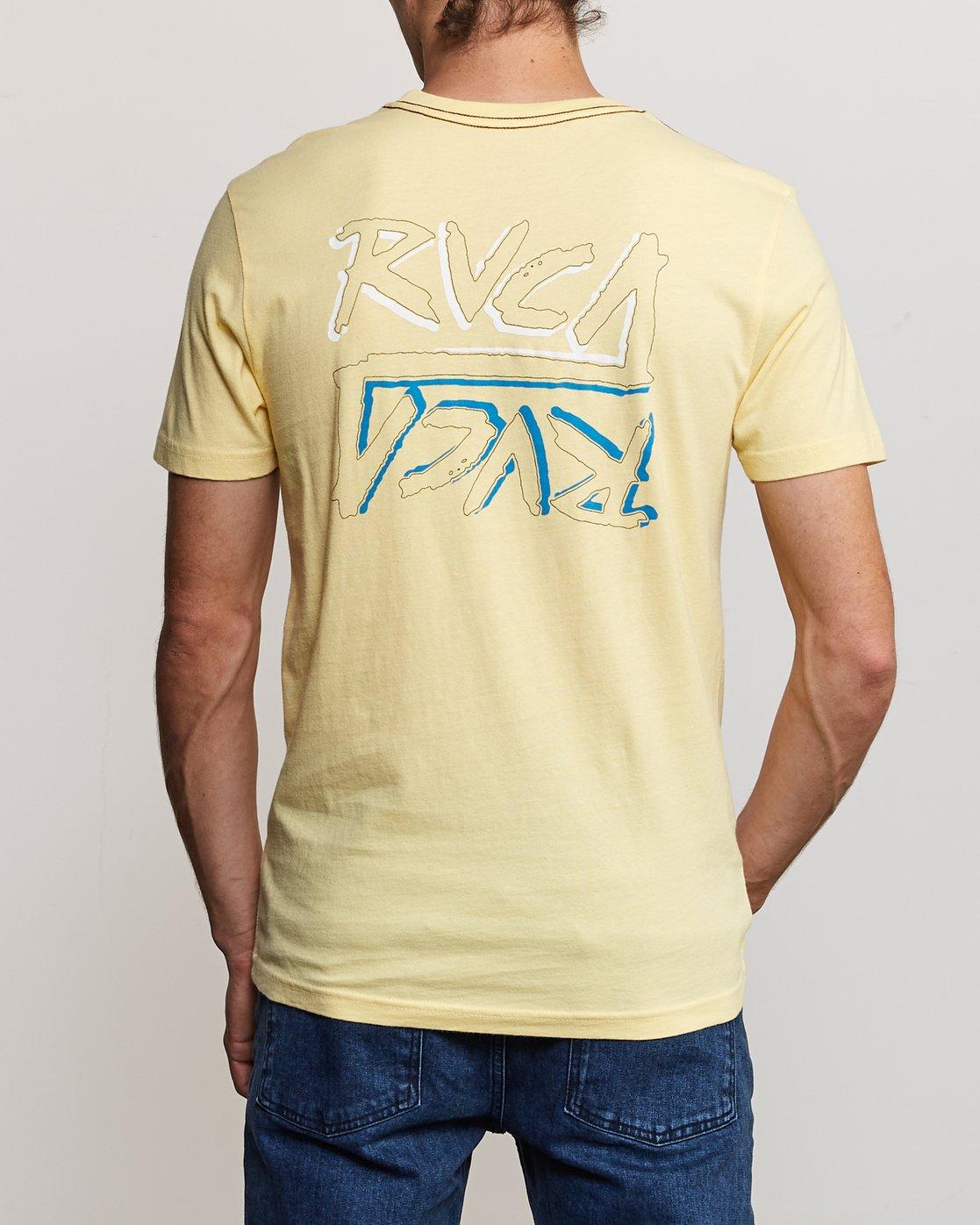 4 Offset T-Shirt Yellow M430UROF RVCA